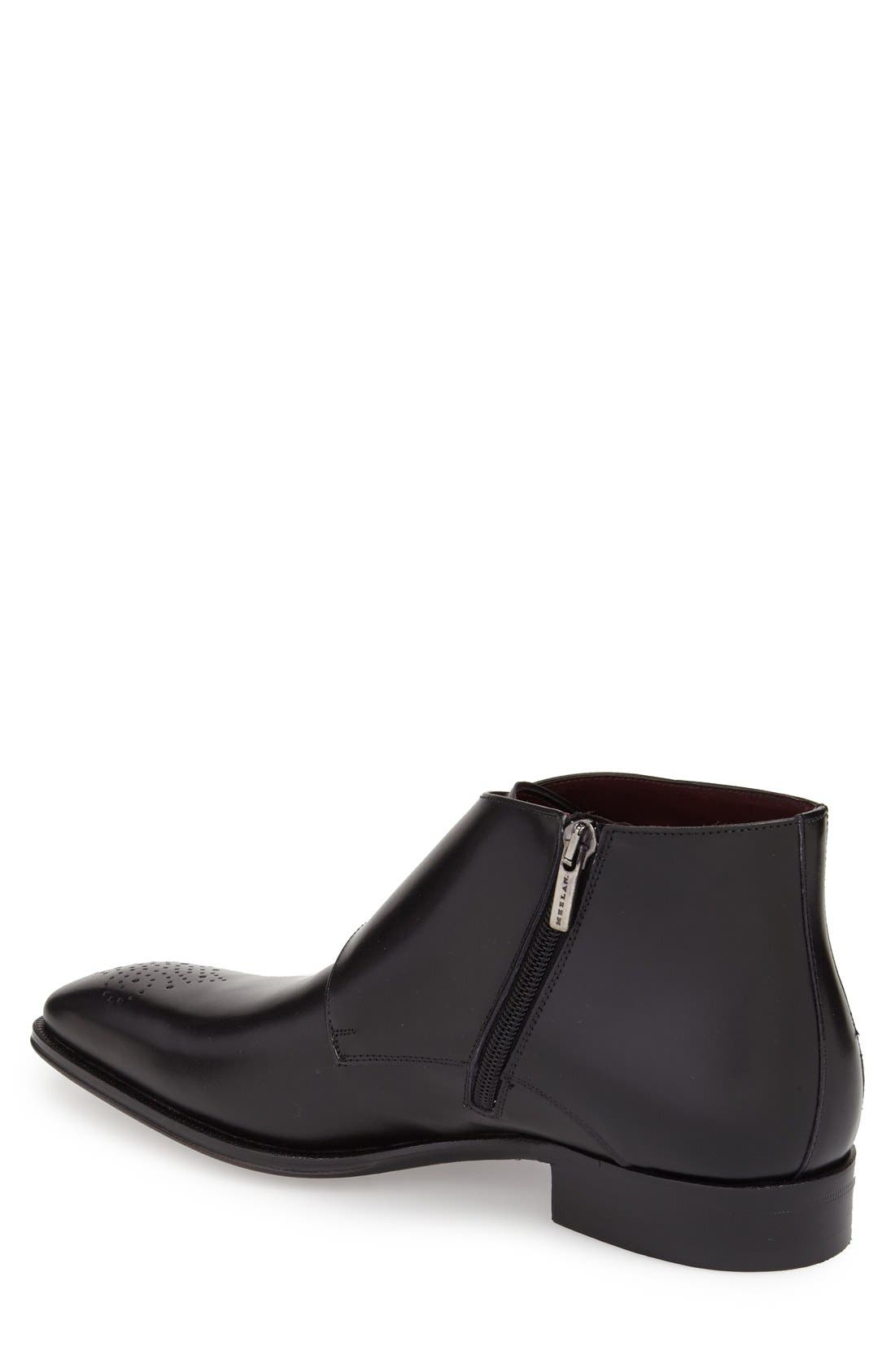 'Rocca' Midi Double Monk Strap Boot,                             Alternate thumbnail 2, color,                             001