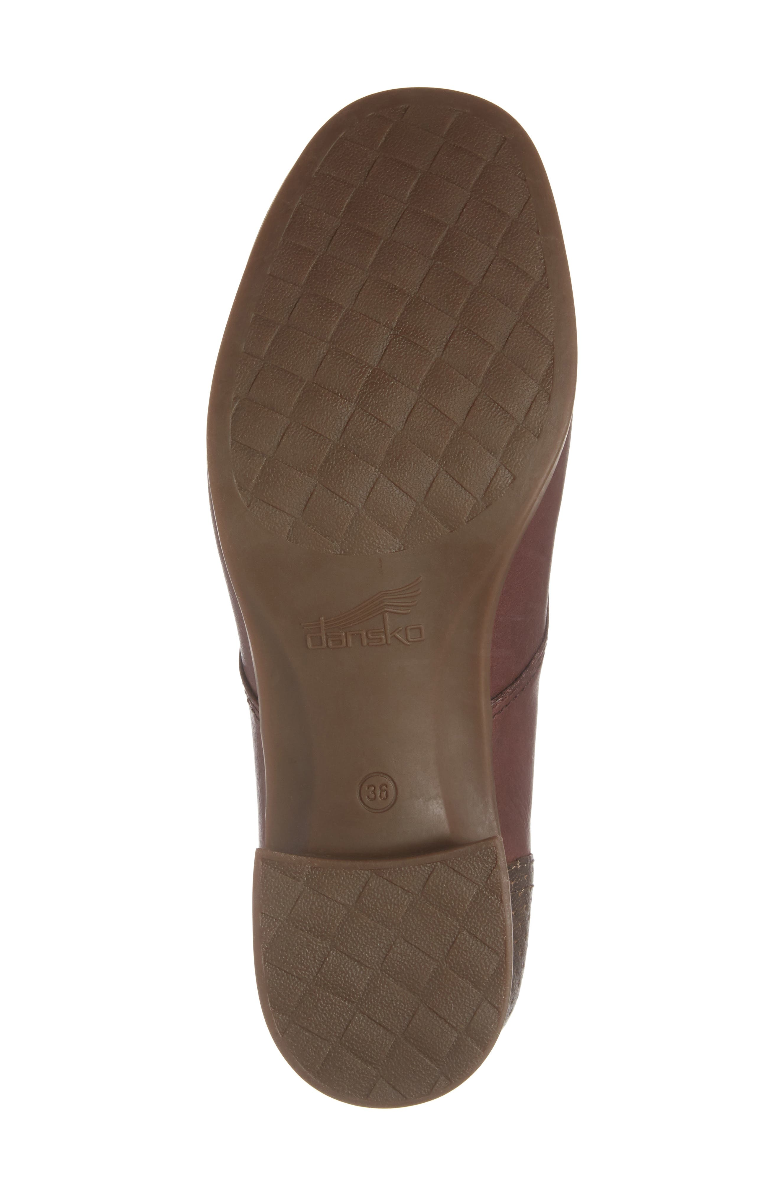 'Louise' Round Toe Derby,                             Alternate thumbnail 6, color,                             WINE BURNISHED LEATHER