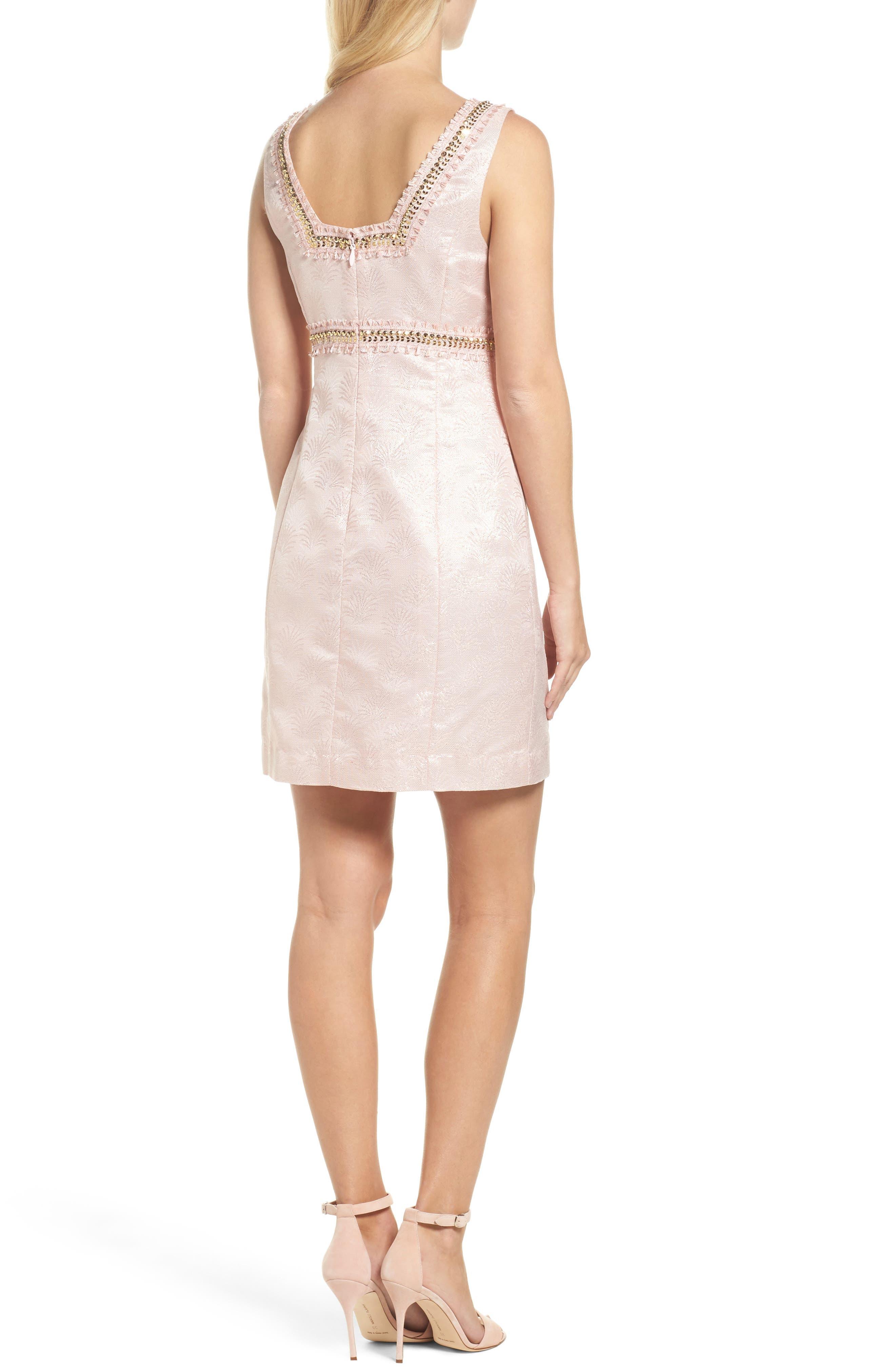 Karter Embellished Sheath Dress,                             Alternate thumbnail 2, color,                             650