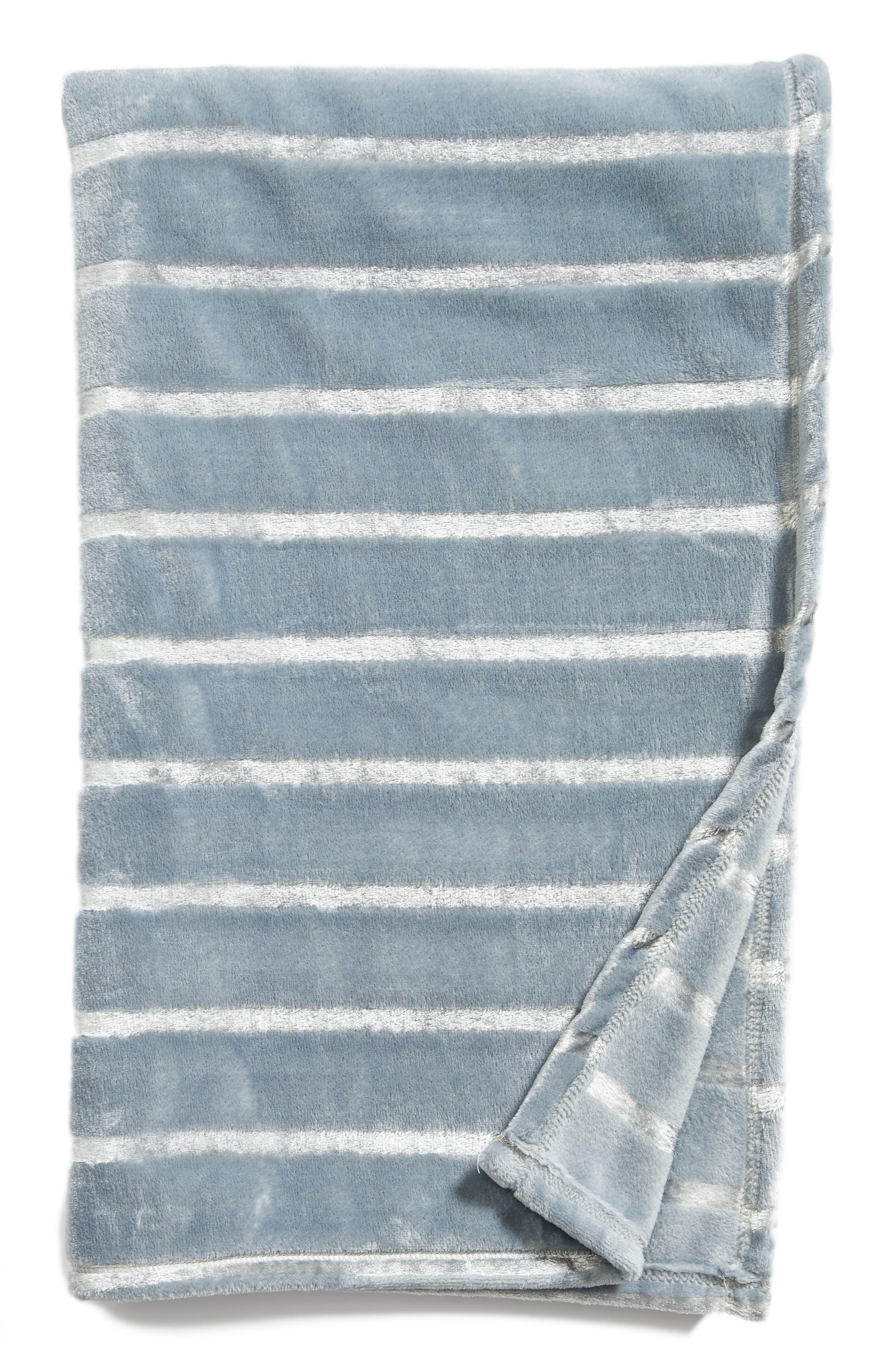 Shimmer Stripe Throw,                             Main thumbnail 2, color,