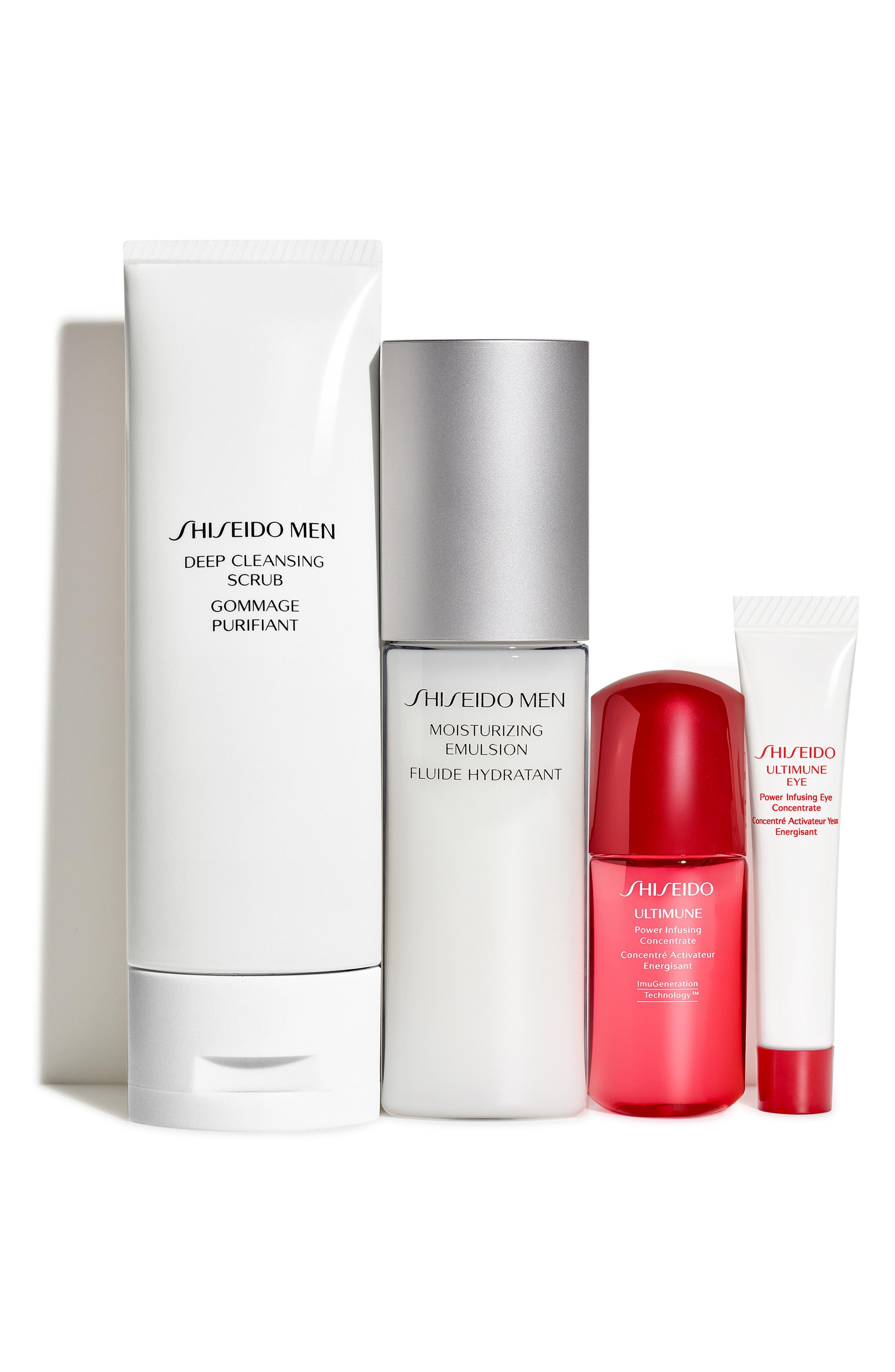 Men's Skin Care Essentials Set,                             Main thumbnail 1, color,                             000