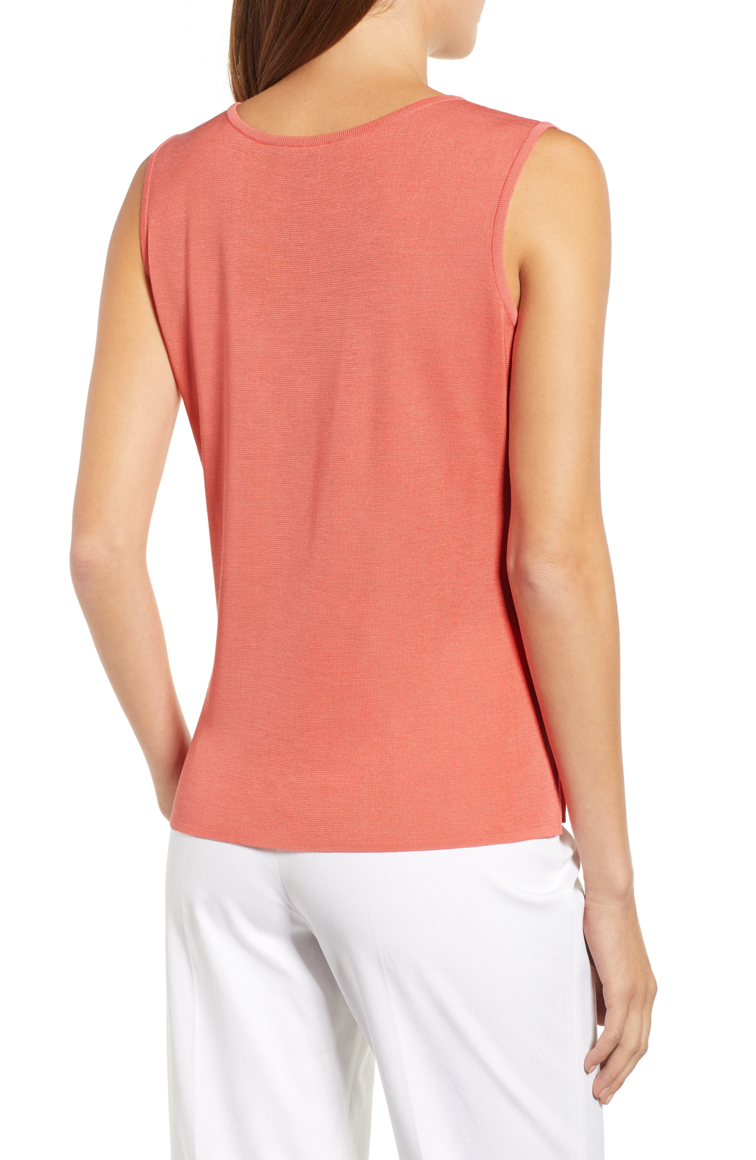 Scoop Neck Tank,                             Alternate thumbnail 2, color,                             DAYLILY