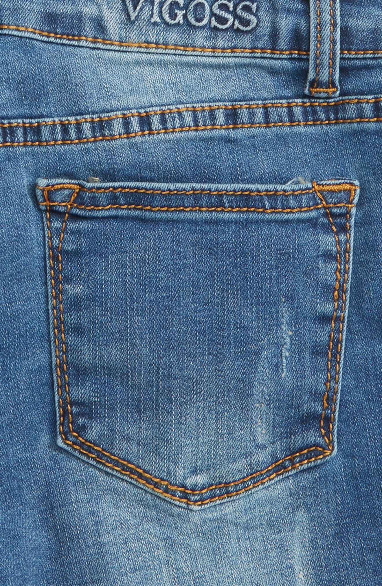Bermidi Frayed Step Hem Shorts,                             Alternate thumbnail 3, color,