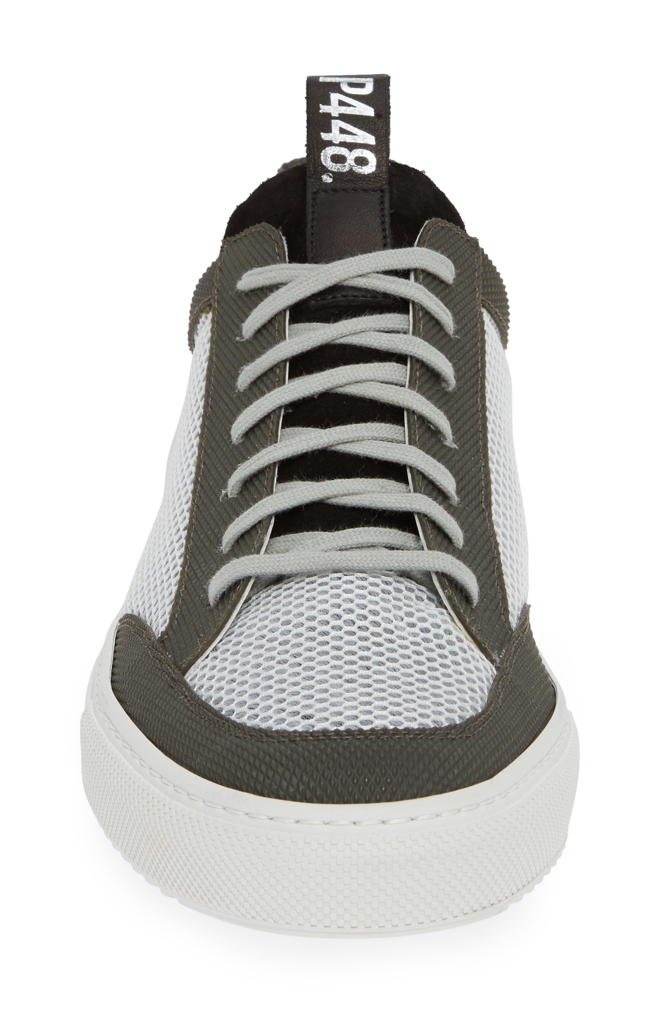 A8Soho Textured Sneaker,                             Alternate thumbnail 4, color,                             WHITE/ GREY