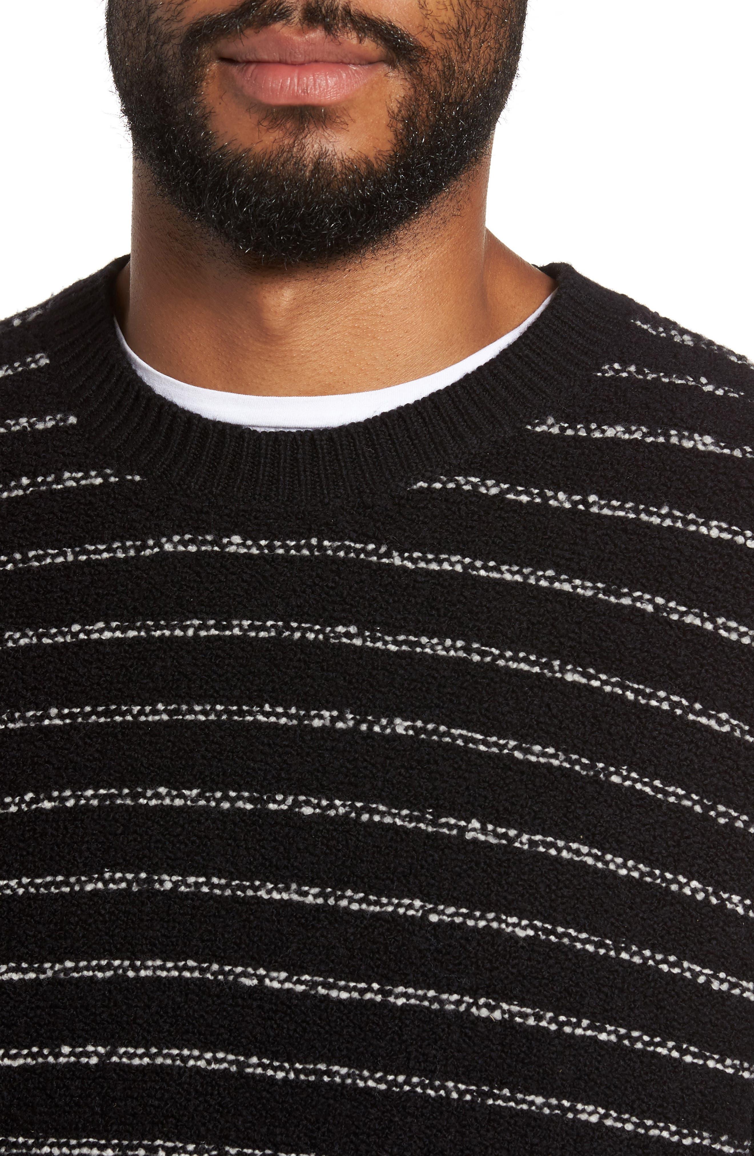 Stripe Merino Sweater,                             Alternate thumbnail 4, color,                             001