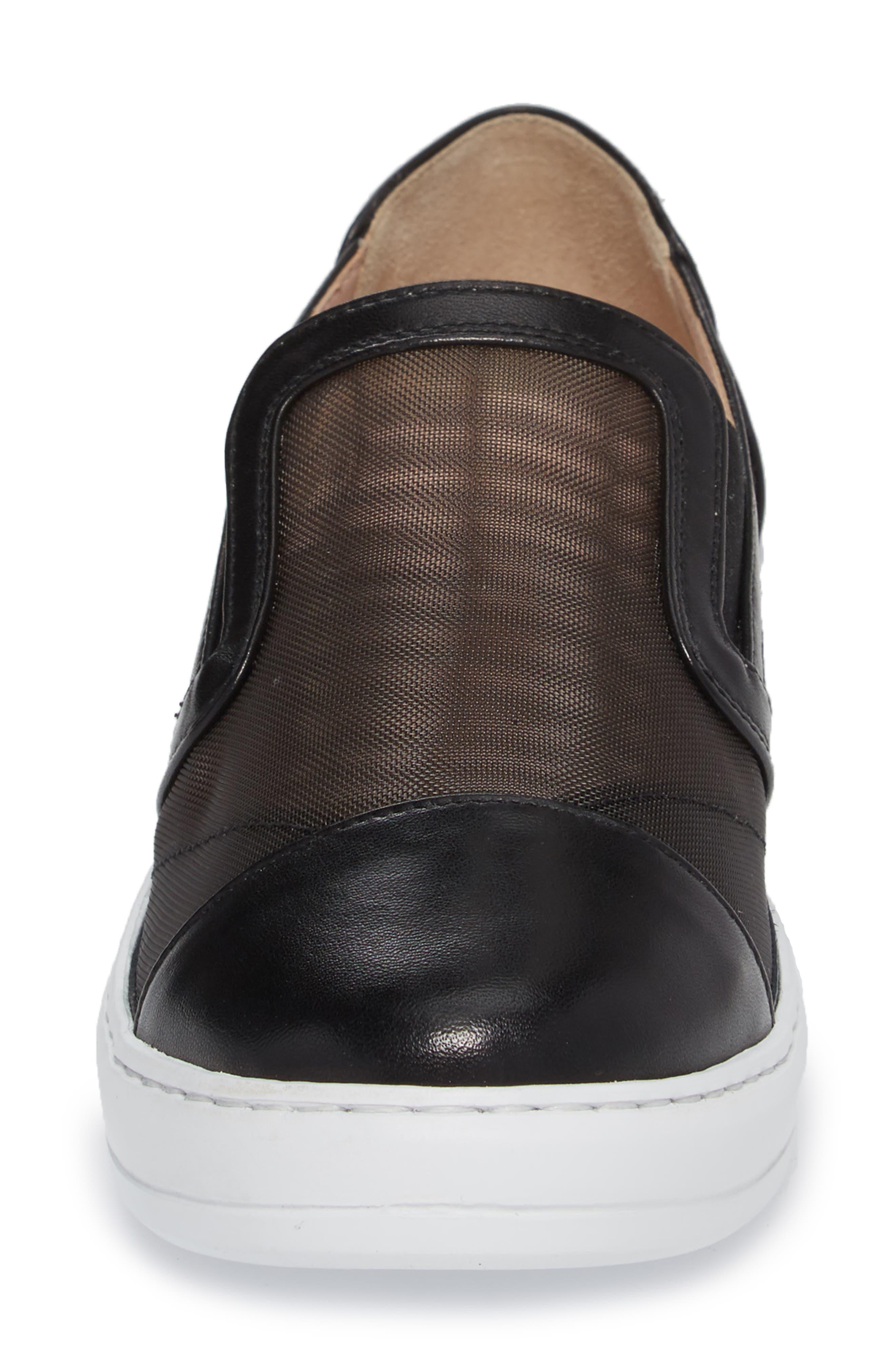 Taryn Rose Calandra Slip-On Sneaker,                             Alternate thumbnail 4, color,                             004