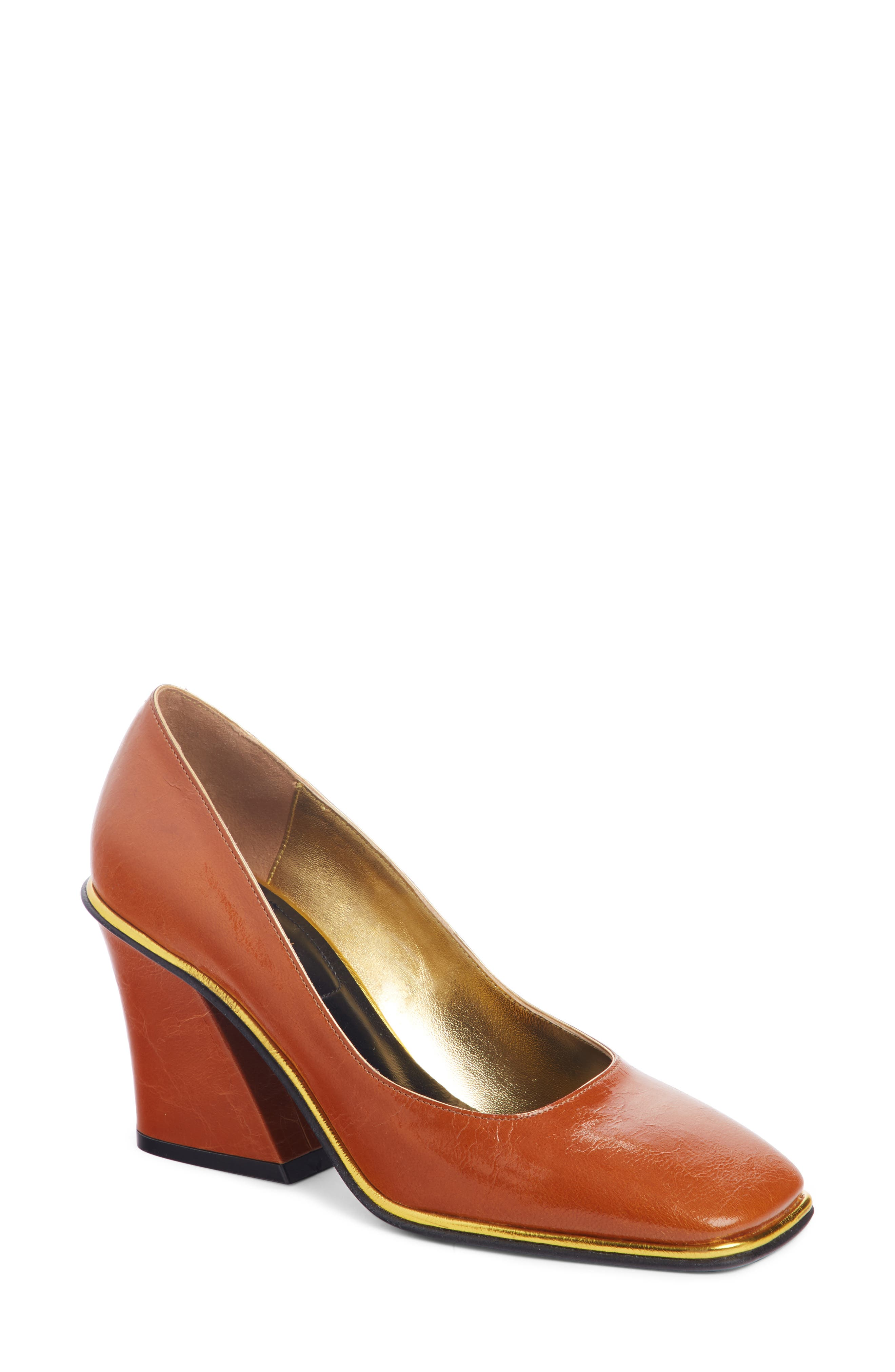 Square Toe Pump,                         Main,                         color, TAN
