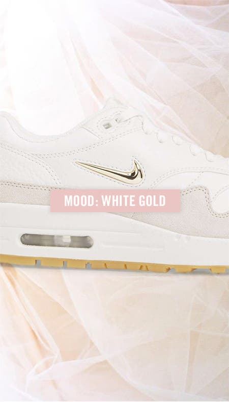 Nordstrom x Nike moodboard: white gold.