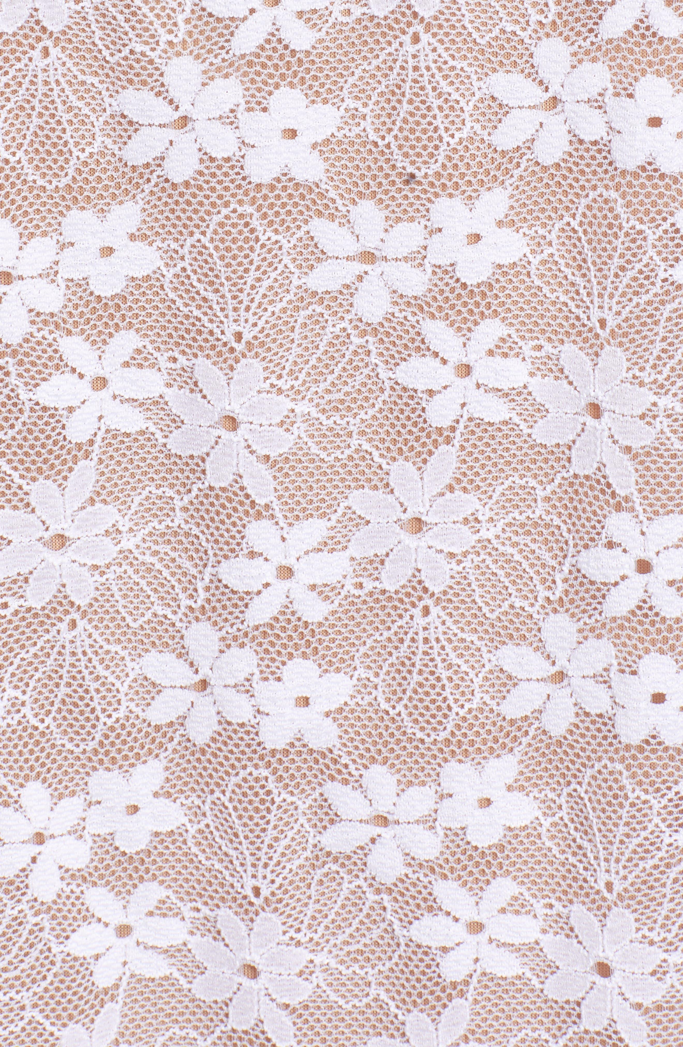 Cold Shoulder Lace Top,                             Alternate thumbnail 6, color,                             100