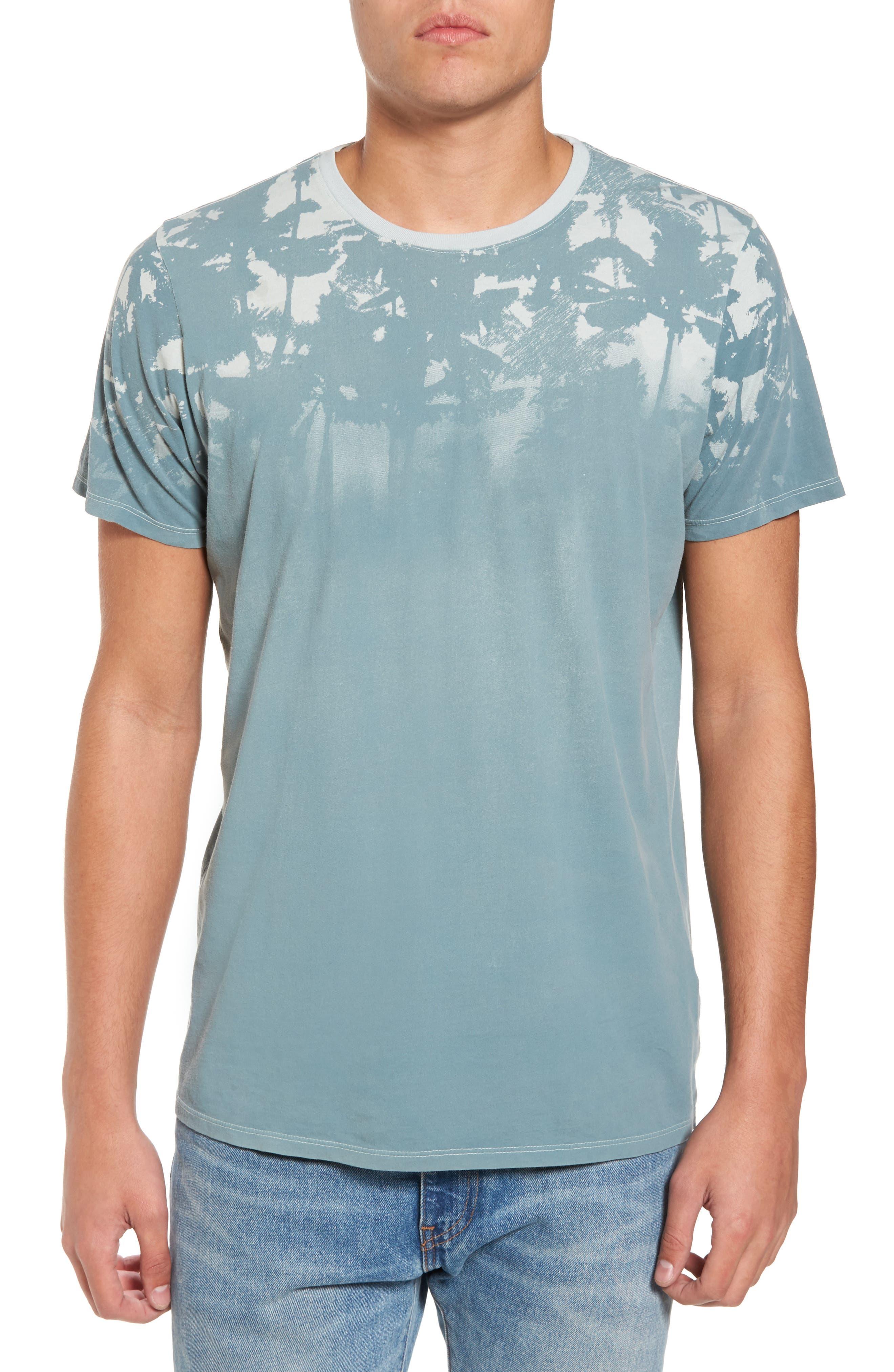 'Lost' Shadow Palm Print Crewneck T-Shirt,                             Main thumbnail 1, color,                             400