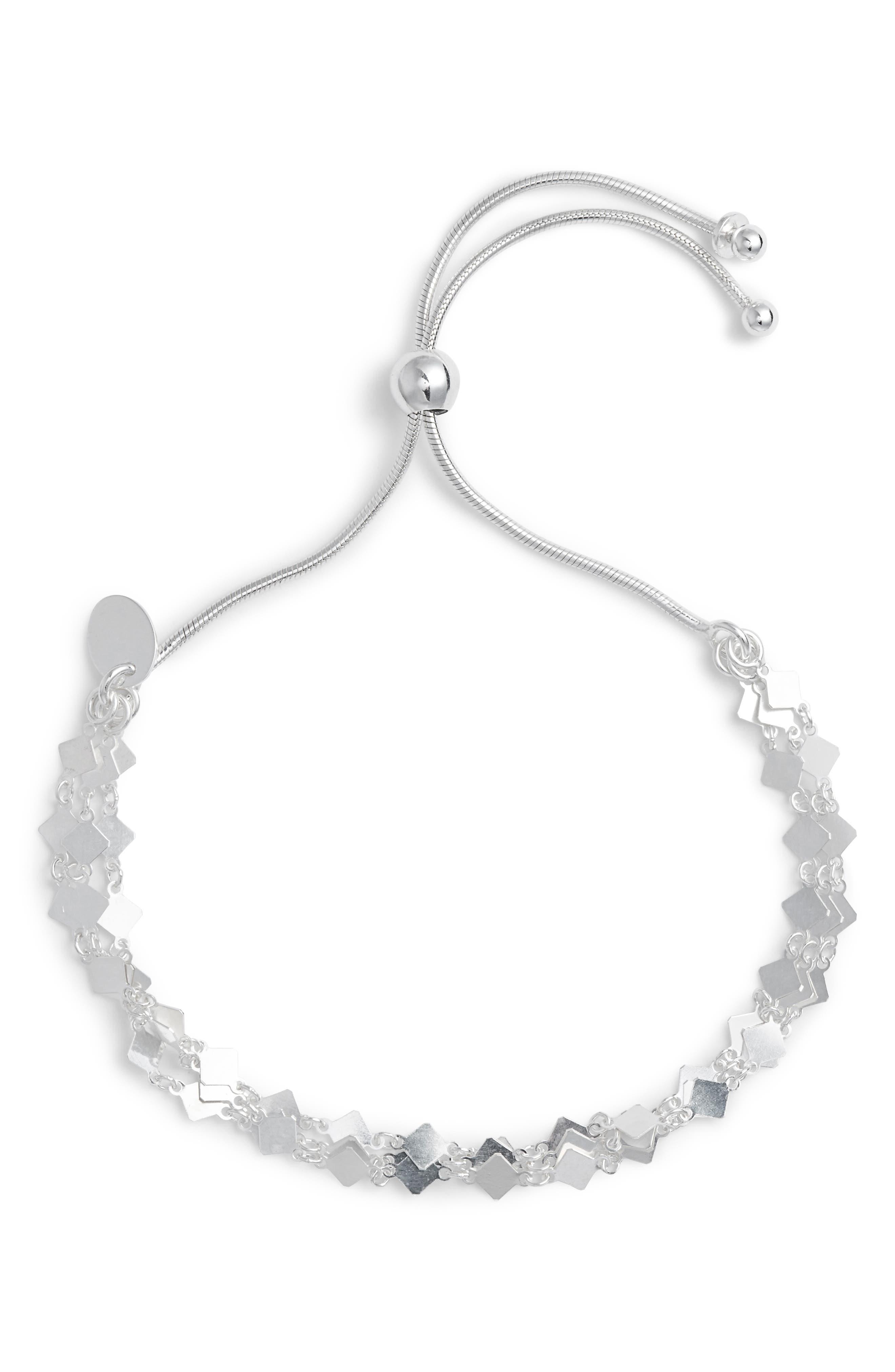Square Mirror Multistrand Bracelet,                             Main thumbnail 1, color,                             040