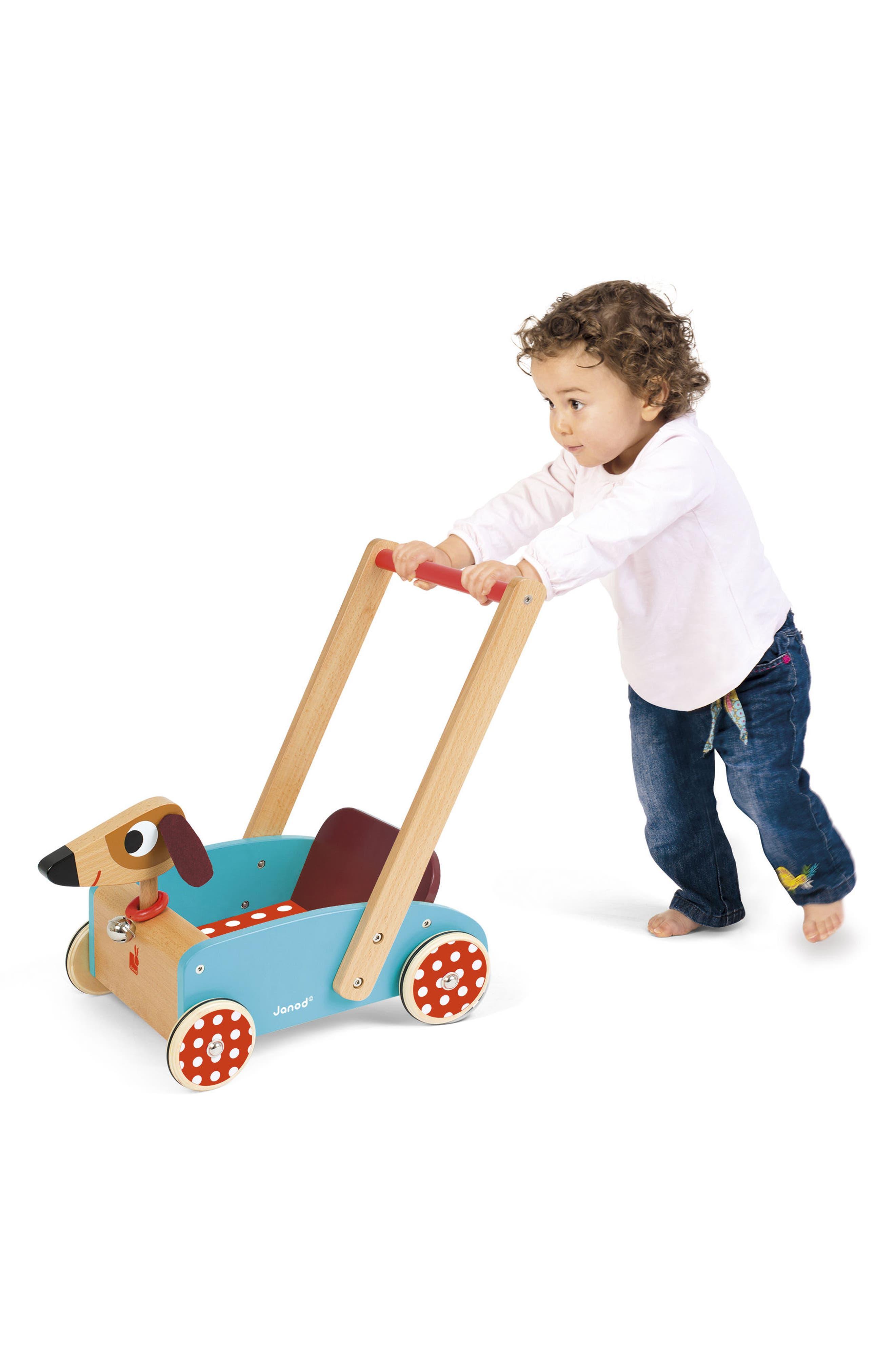 Wood Dog Cart,                             Alternate thumbnail 5, color,                             MULTI