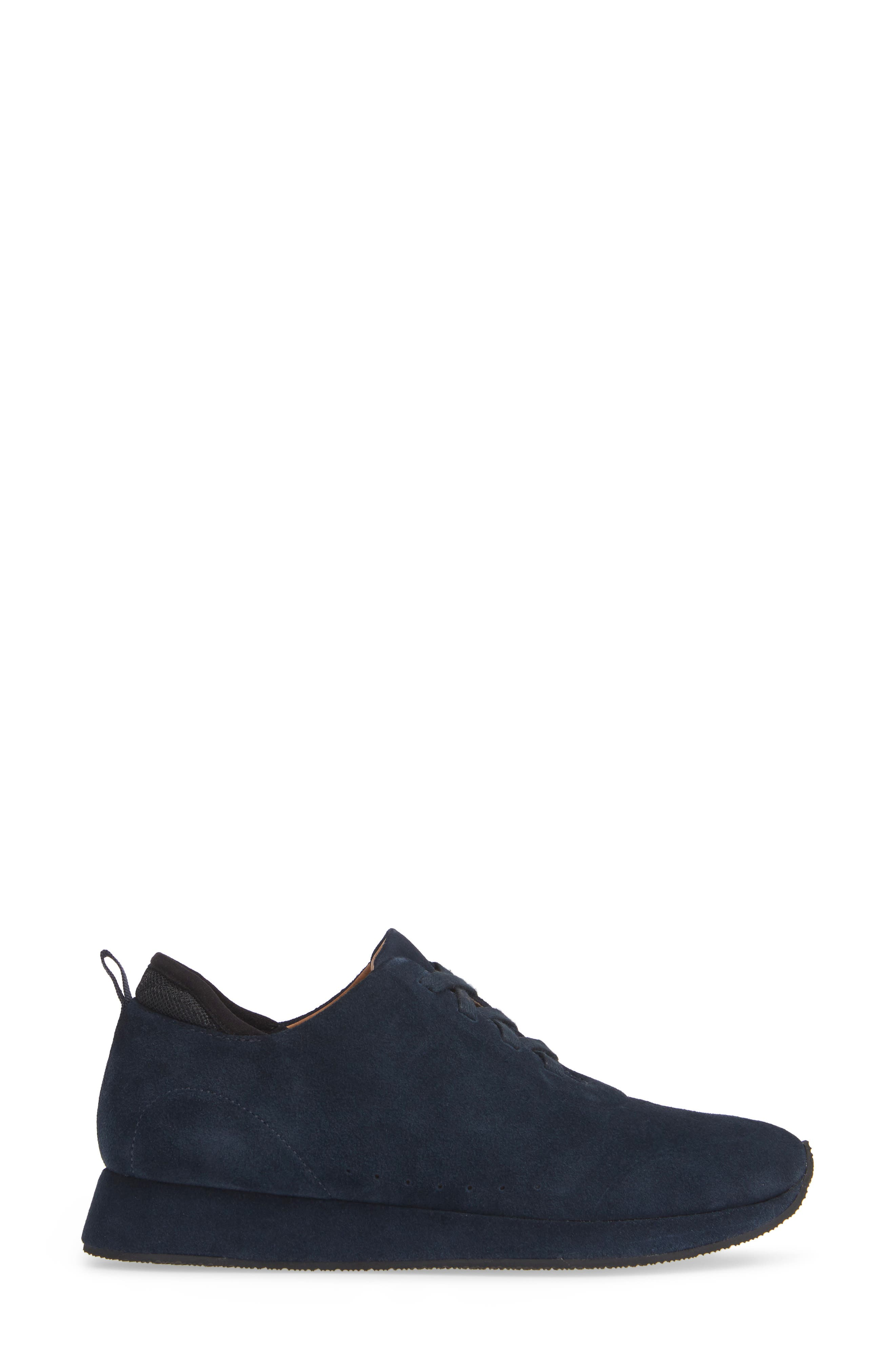 SUDINI,                             Mabel Sneaker,                             Alternate thumbnail 3, color,                             NAVY SUEDE