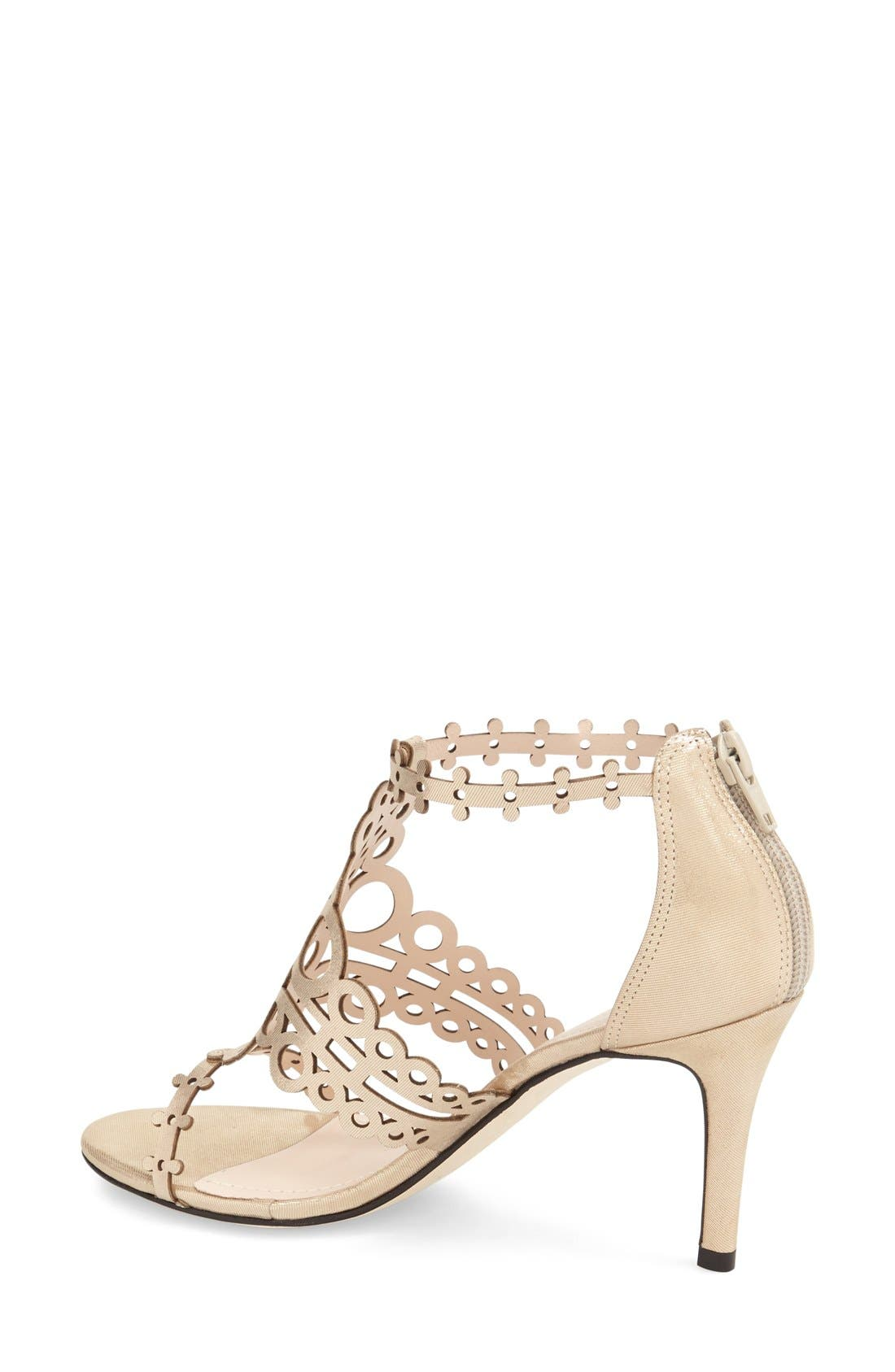'Antonia' Laser Cut T-Strap Sandal,                             Alternate thumbnail 8, color,