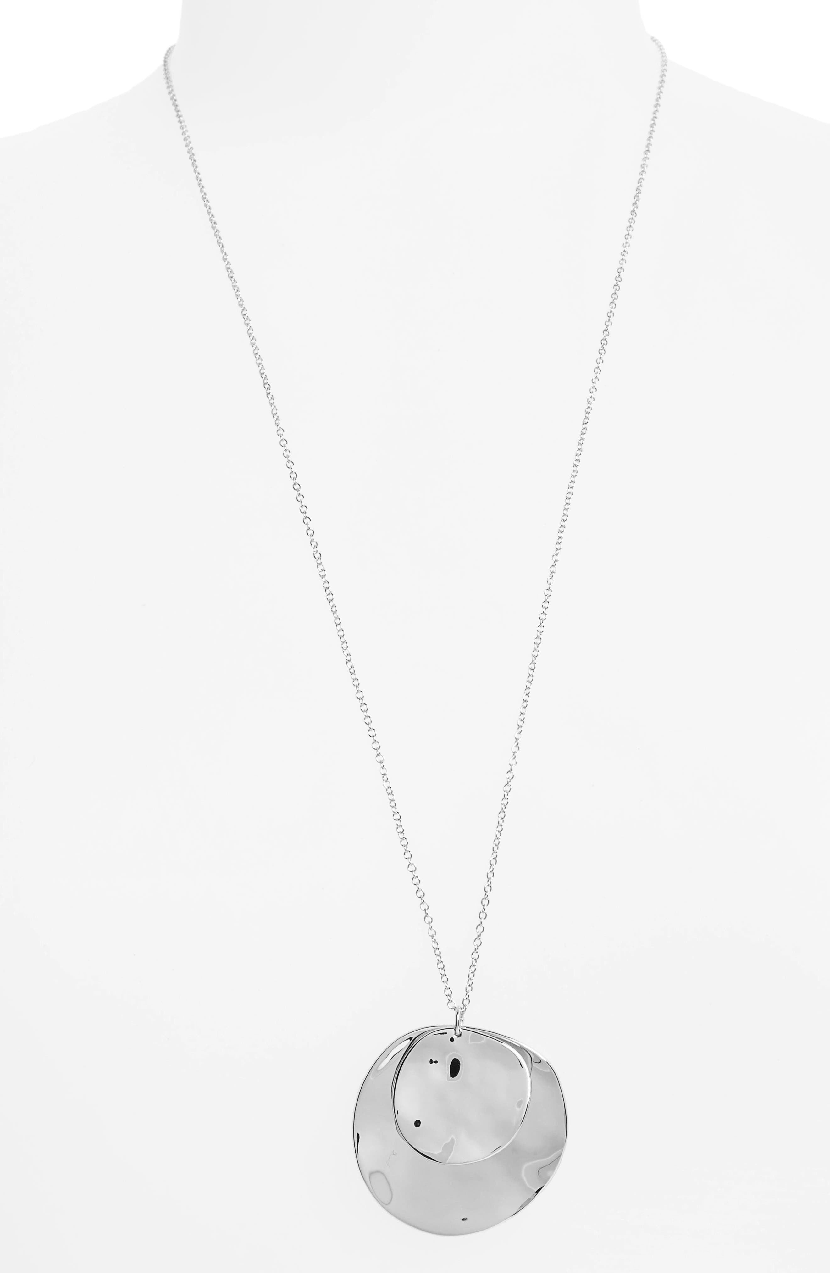 Chloe Long Cluster Pendant Necklace,                         Main,                         color, SILVER