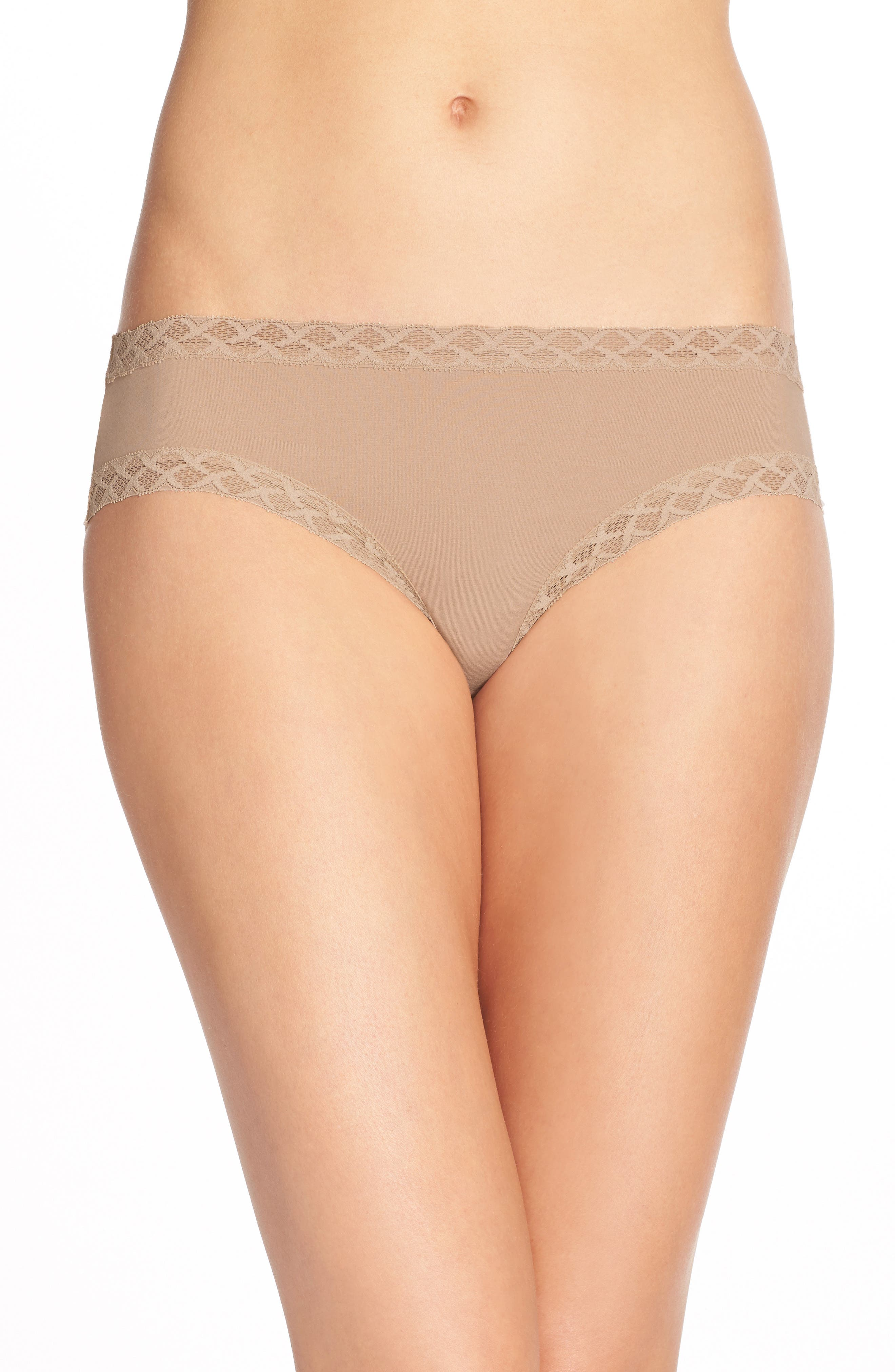 Bliss Cotton Girl Briefs,                             Main thumbnail 1, color,                             CAFE