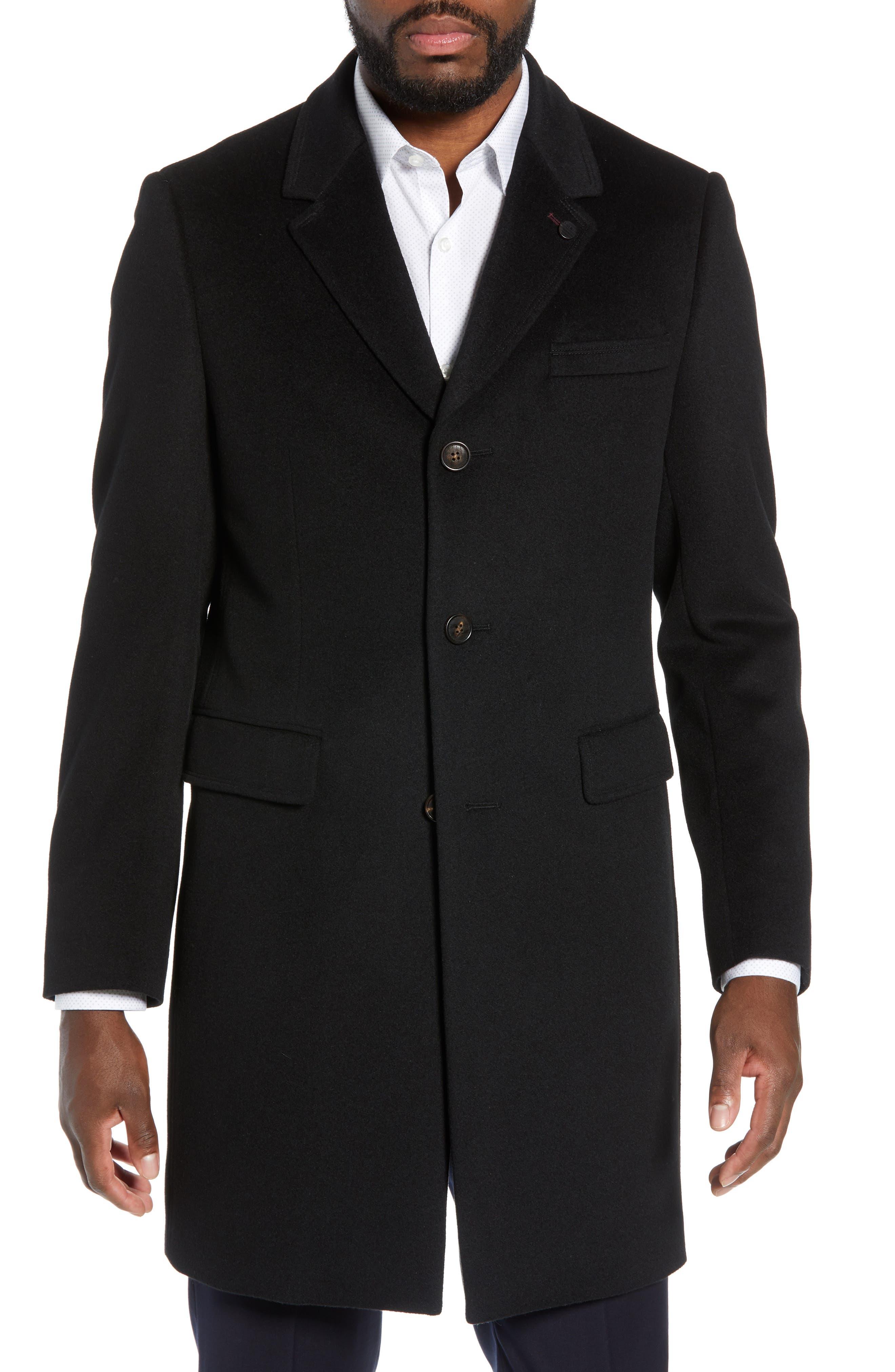 Swish Wool & Cashmere Overcoat,                             Main thumbnail 1, color,                             001