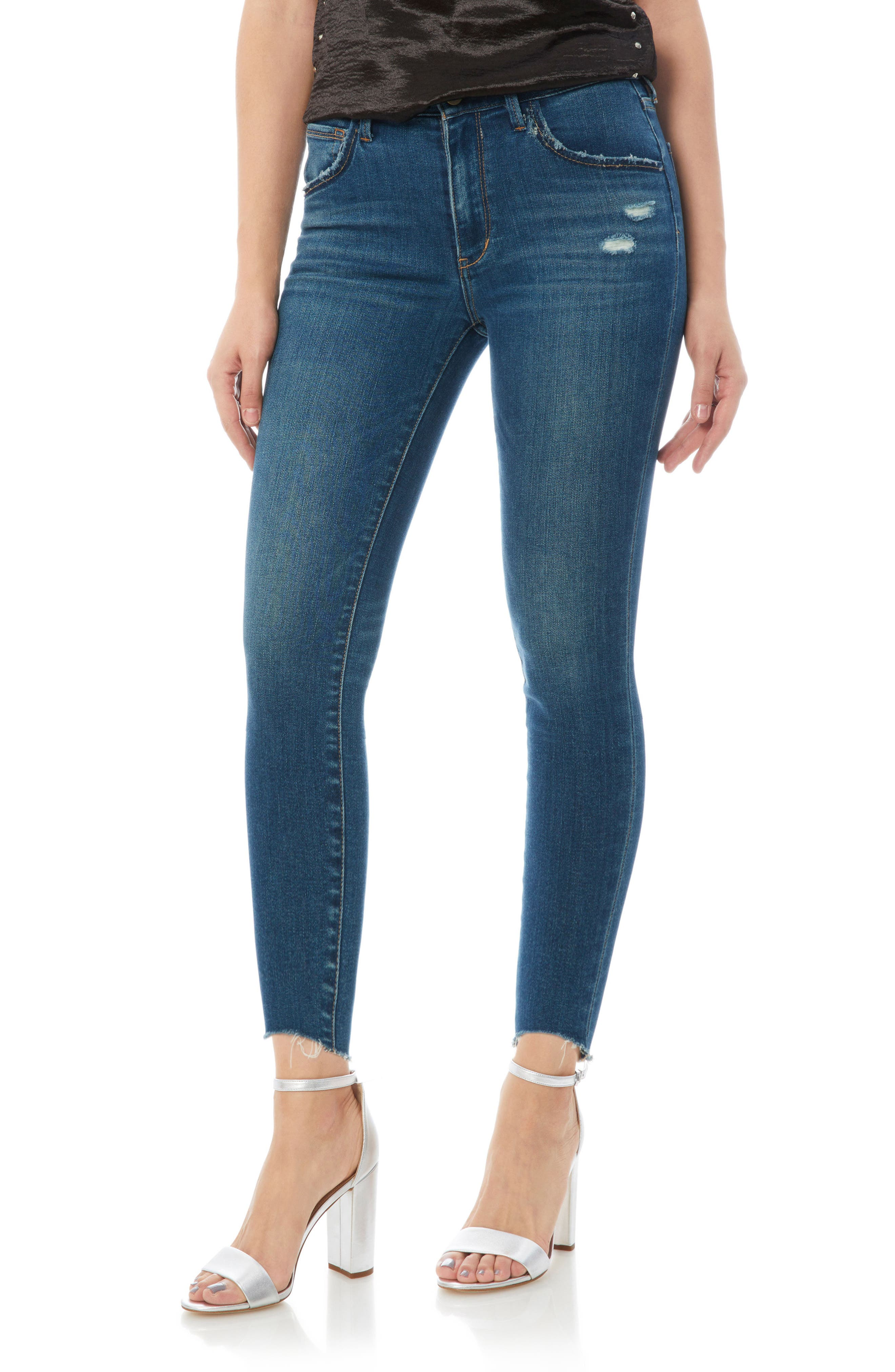 The Stiletto High Rise Skinny Jeans,                             Main thumbnail 1, color,                             LANELLE