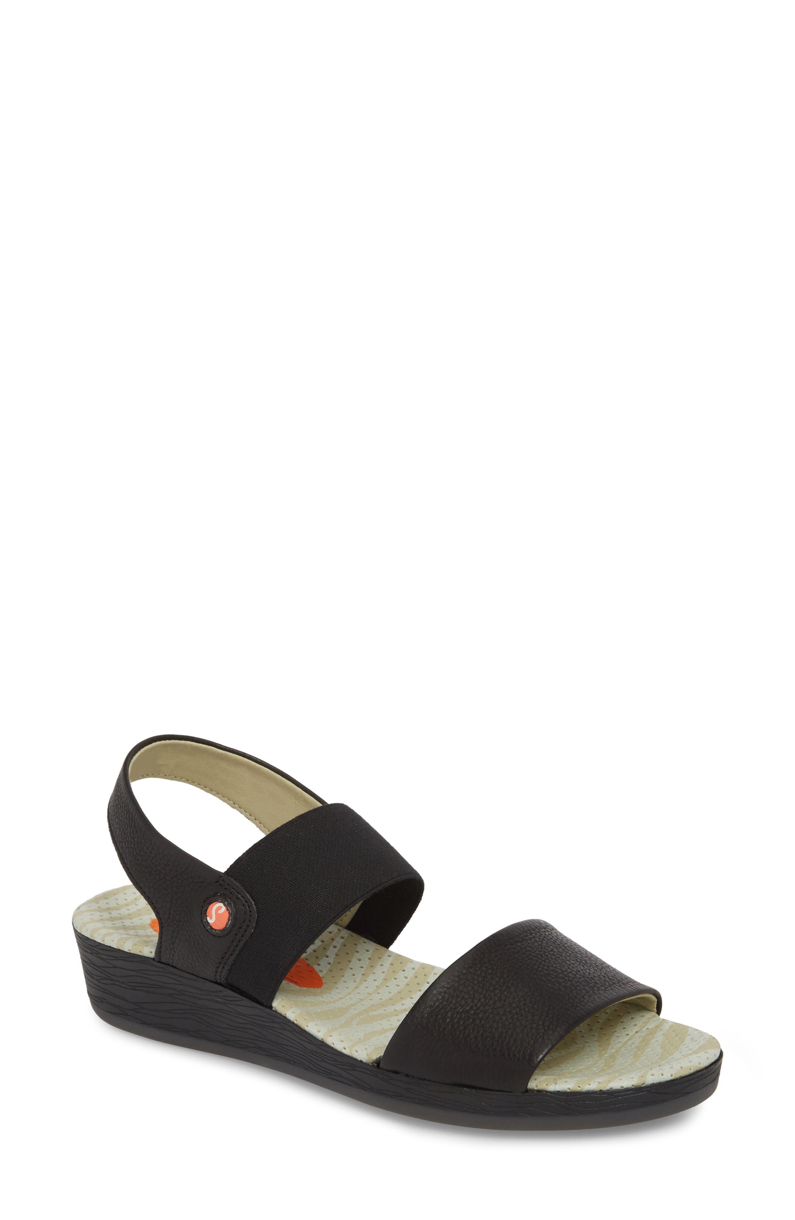 Softinos By Fly London Alp425Sof Sandal - Black