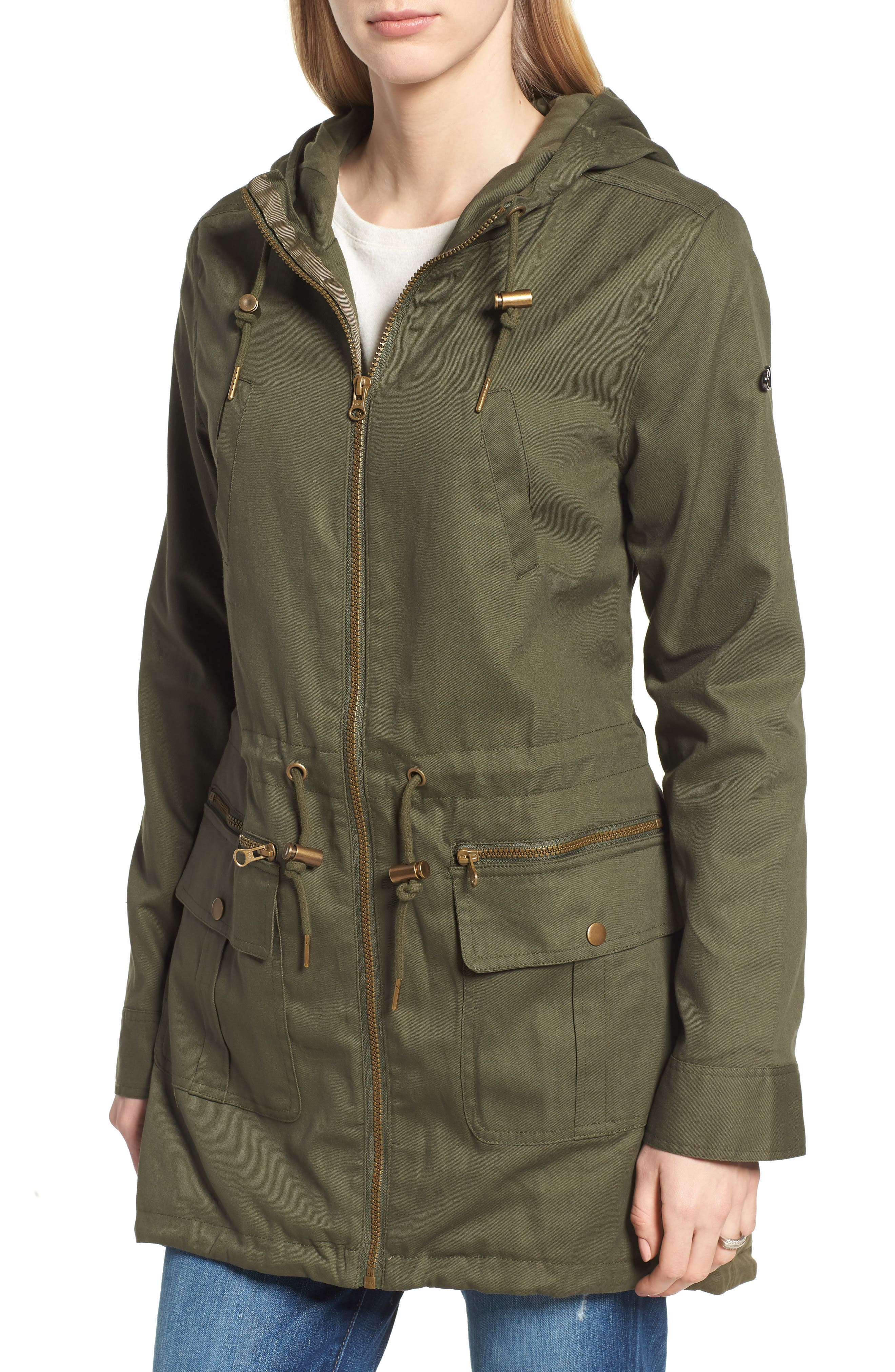 Convertible Military 3-in-1 Maternity/Nursing Jacket,                             Alternate thumbnail 2, color,                             KHAKI GREEN