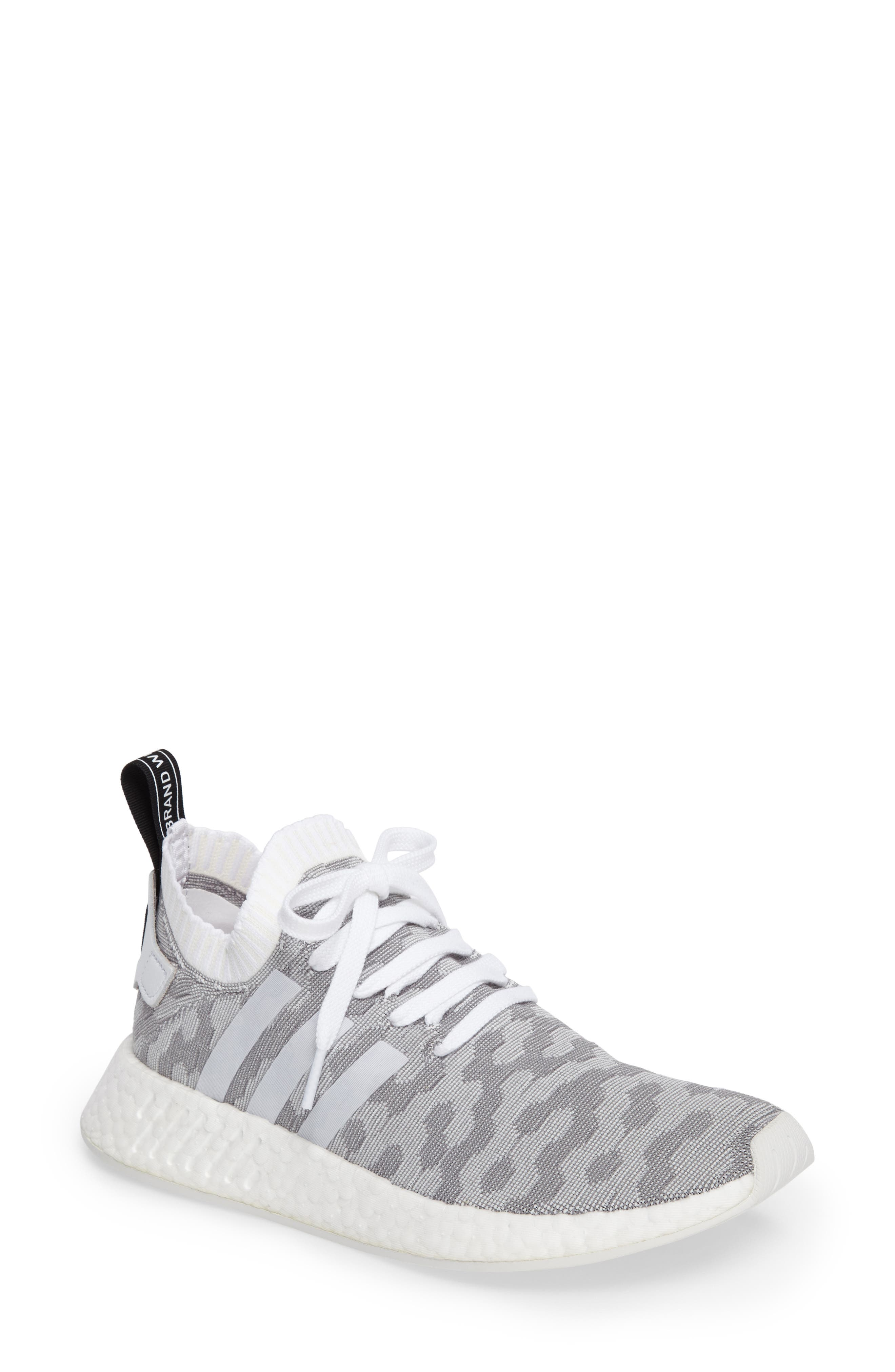 NMD R2 Primeknit Athletic Shoe,                             Main thumbnail 4, color,