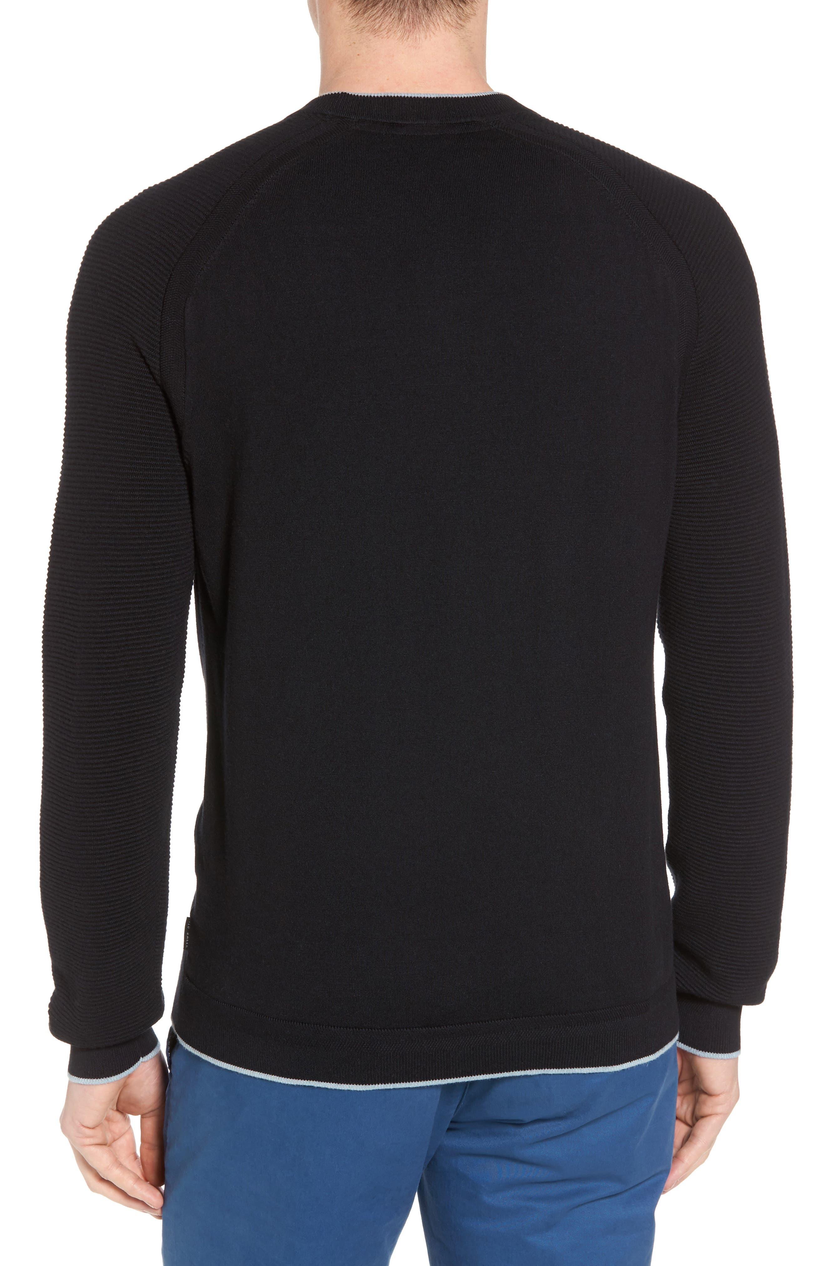 Kayfed Rib Sleeve Sweater,                             Alternate thumbnail 2, color,                             001