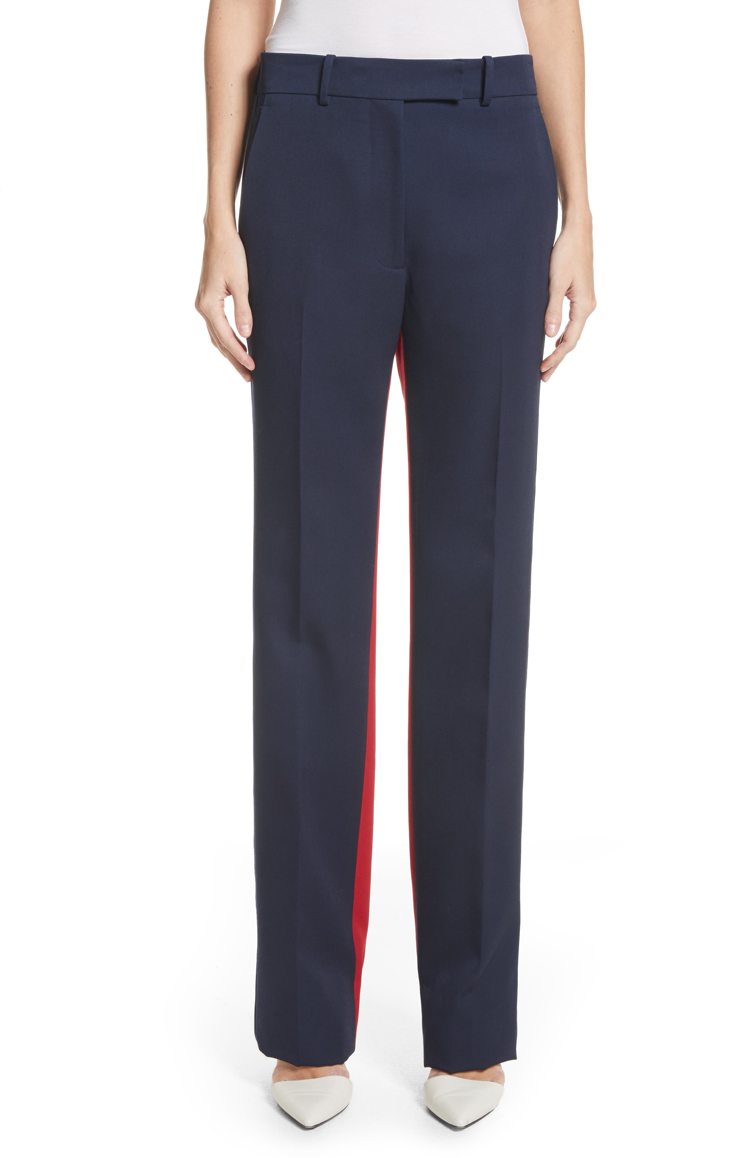 Colorblock Wool Trousers,                             Main thumbnail 1, color,