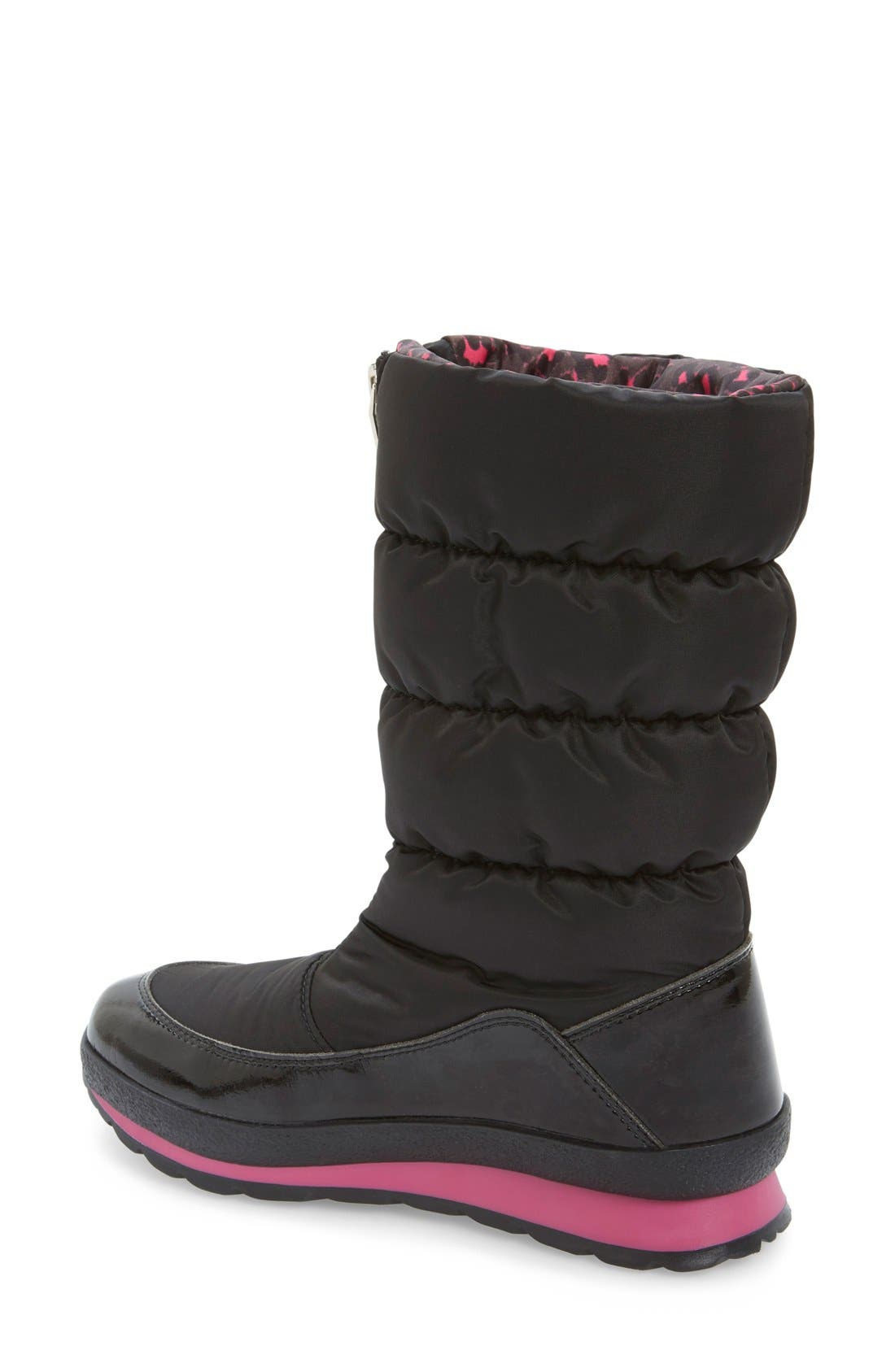 Cervina Waterproof Zip-Up Channel Quilted Boot,                             Alternate thumbnail 11, color,
