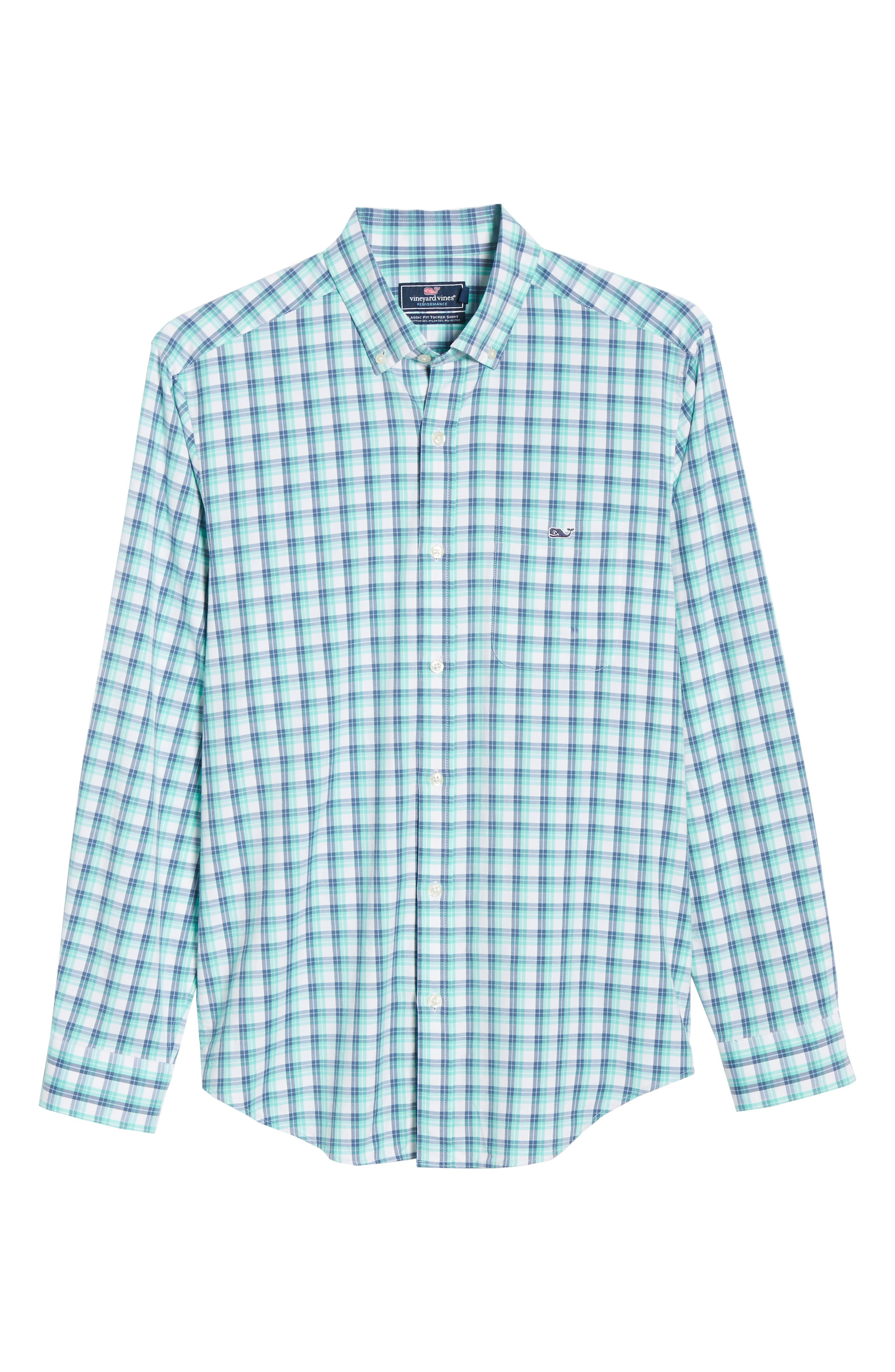 VINEYARD VINES,                             South Street Tucker Slim Fit Sport Shirt,                             Alternate thumbnail 5, color,                             CAPRI BLUE