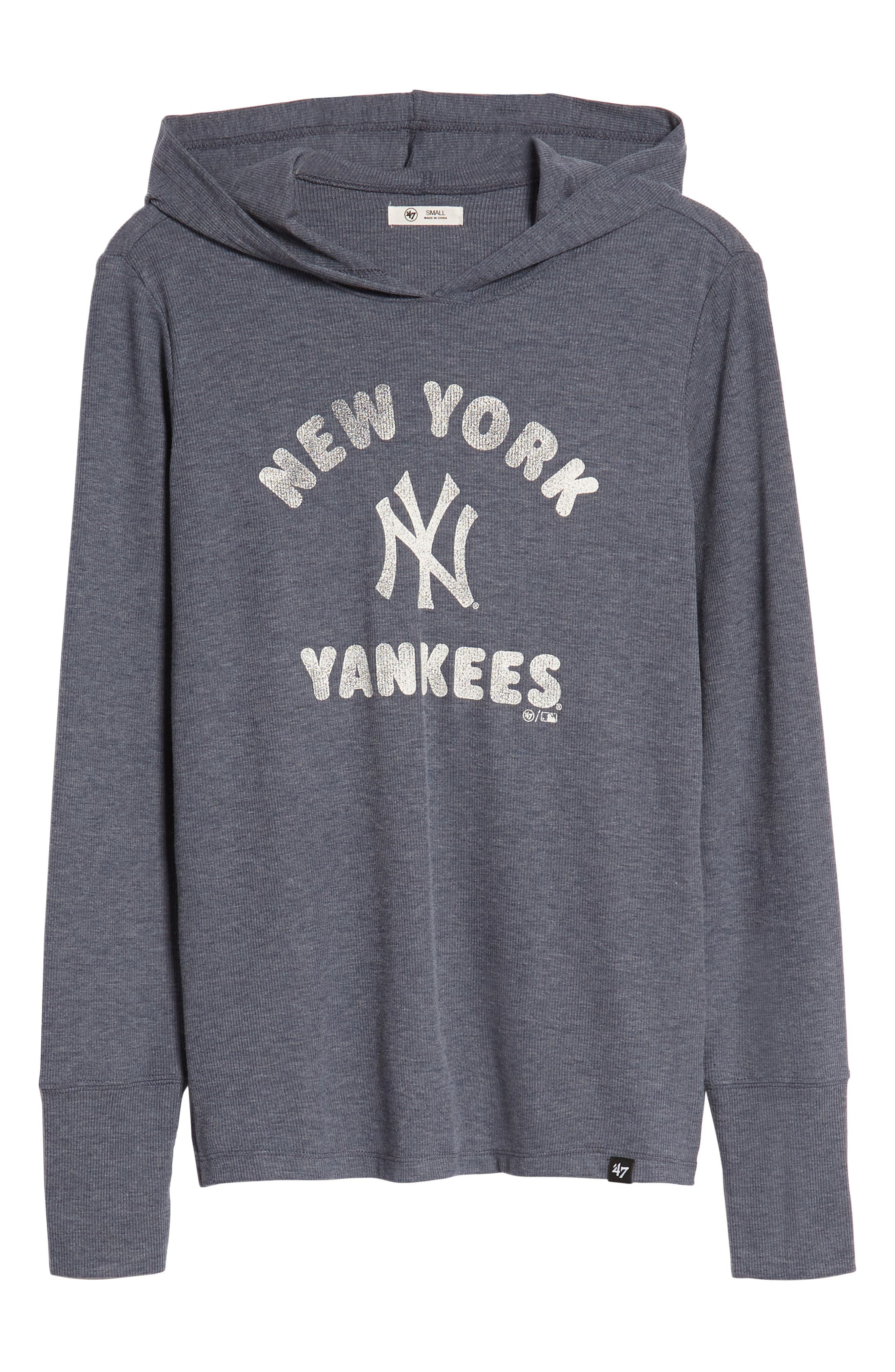 Campbell New York Yankees Rib Knit Hooded Top,                             Alternate thumbnail 7, color,