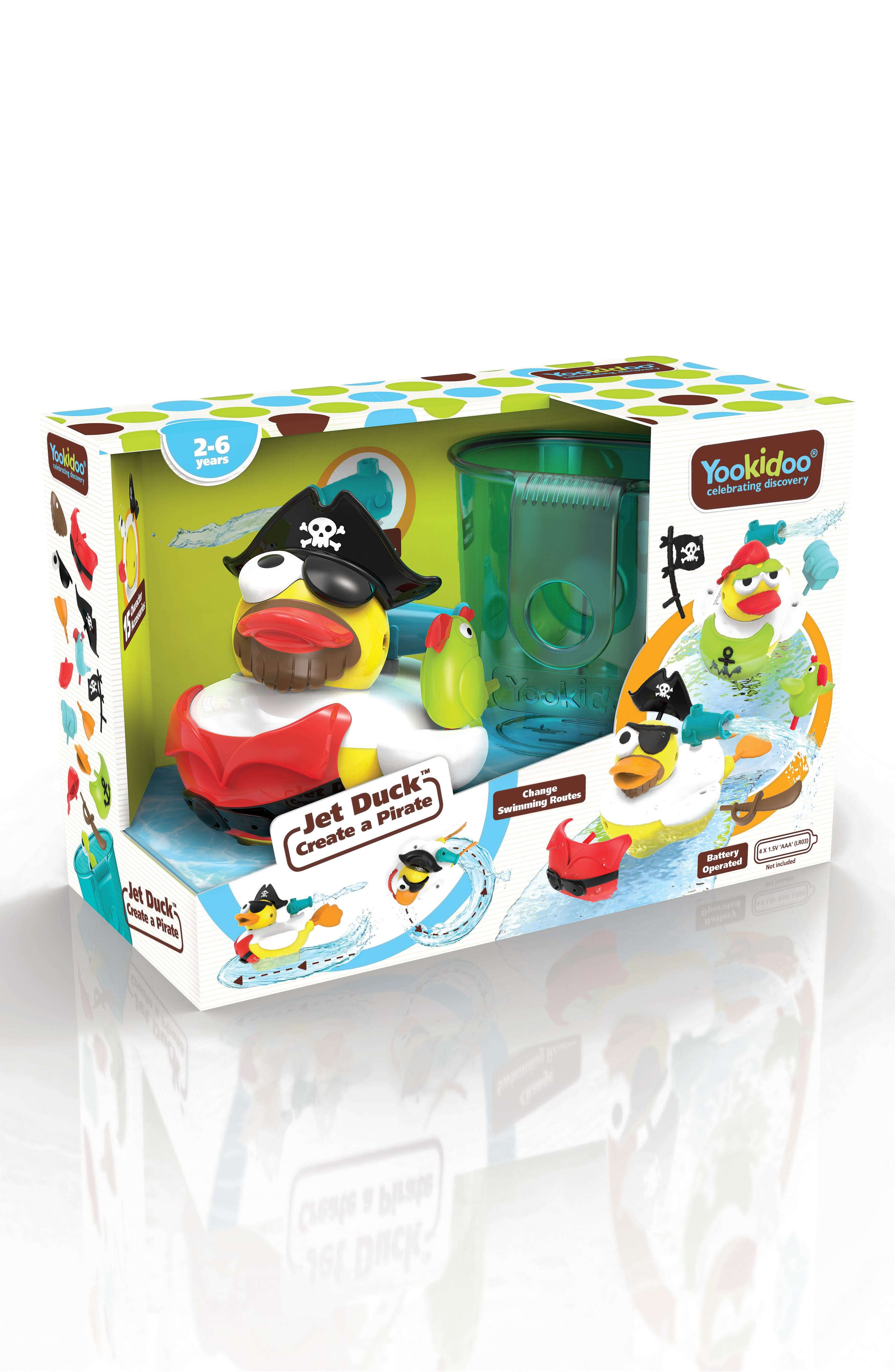Jet Duck<sup>™</sup> Create a Pirate Bath Toy Kit,                             Main thumbnail 1, color,                             YELLOW