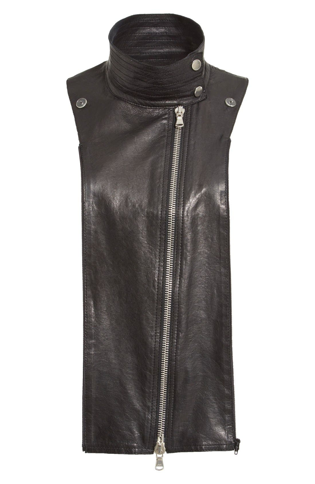Lambskin Leather Moto Dickey,                             Main thumbnail 1, color,