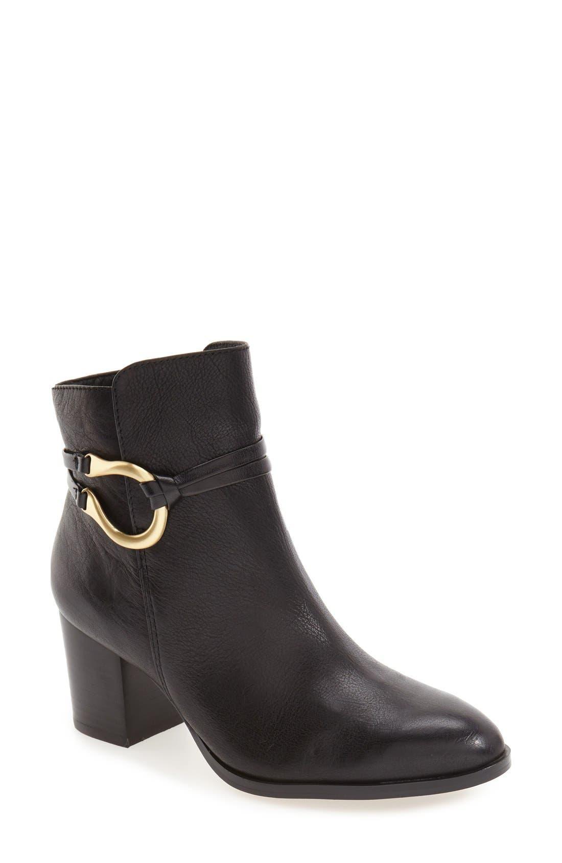 'Odell' Block Heel Bootie,                         Main,                         color, 001