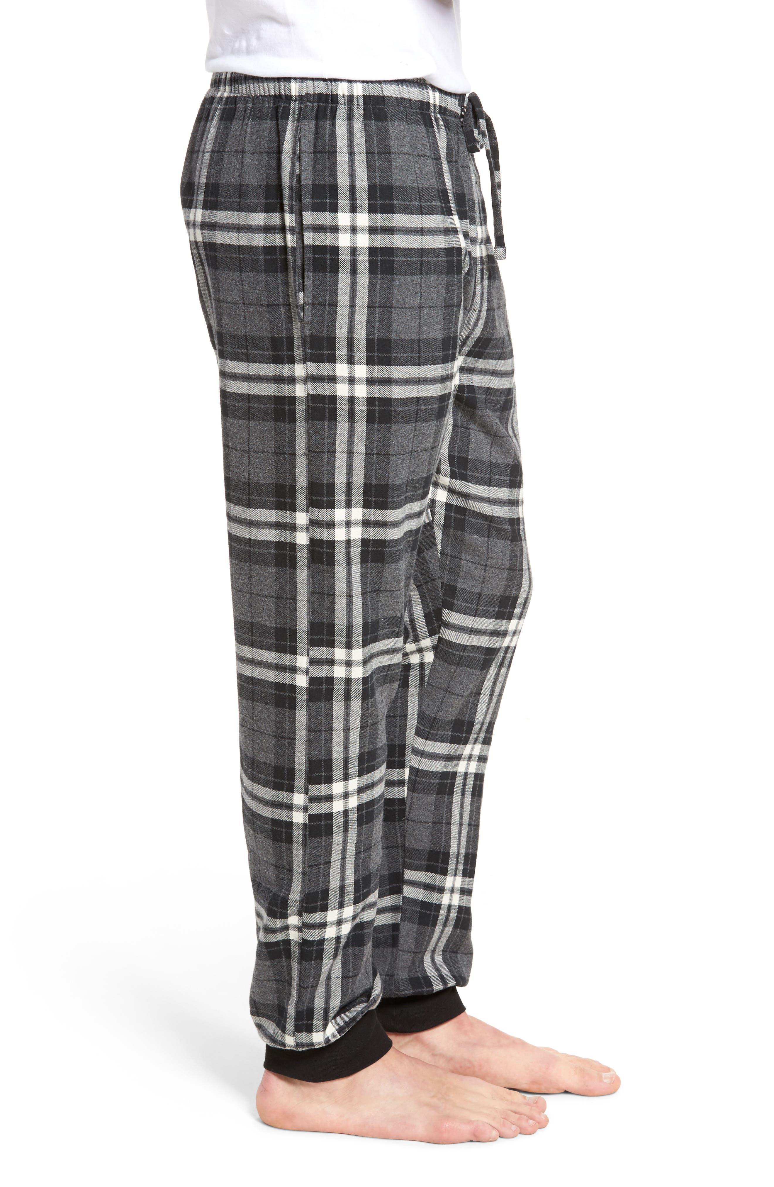 Flannel Pajama Jogger Pants,                             Alternate thumbnail 3, color,                             022