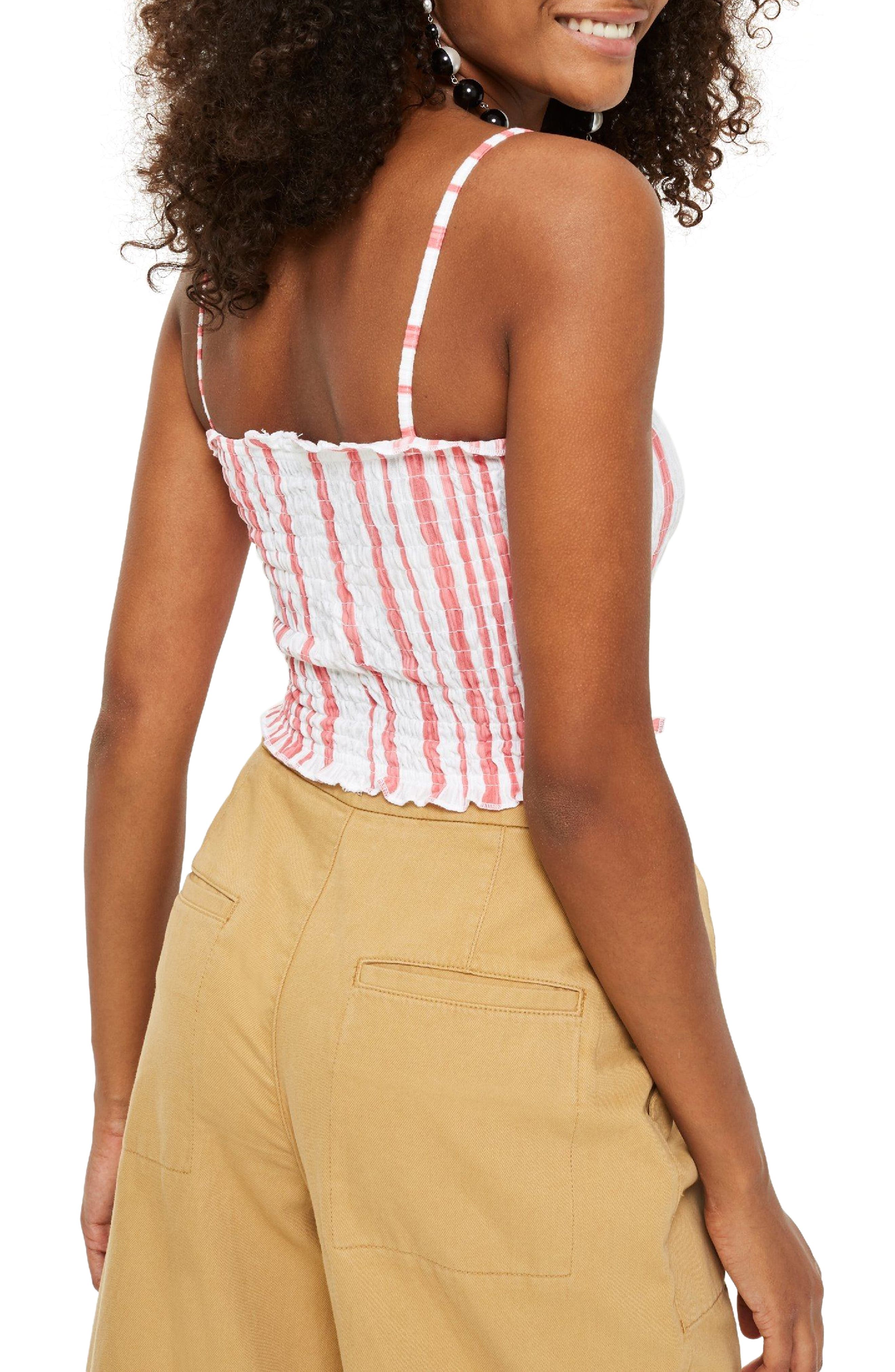 Smocked Button Top,                             Alternate thumbnail 4, color,