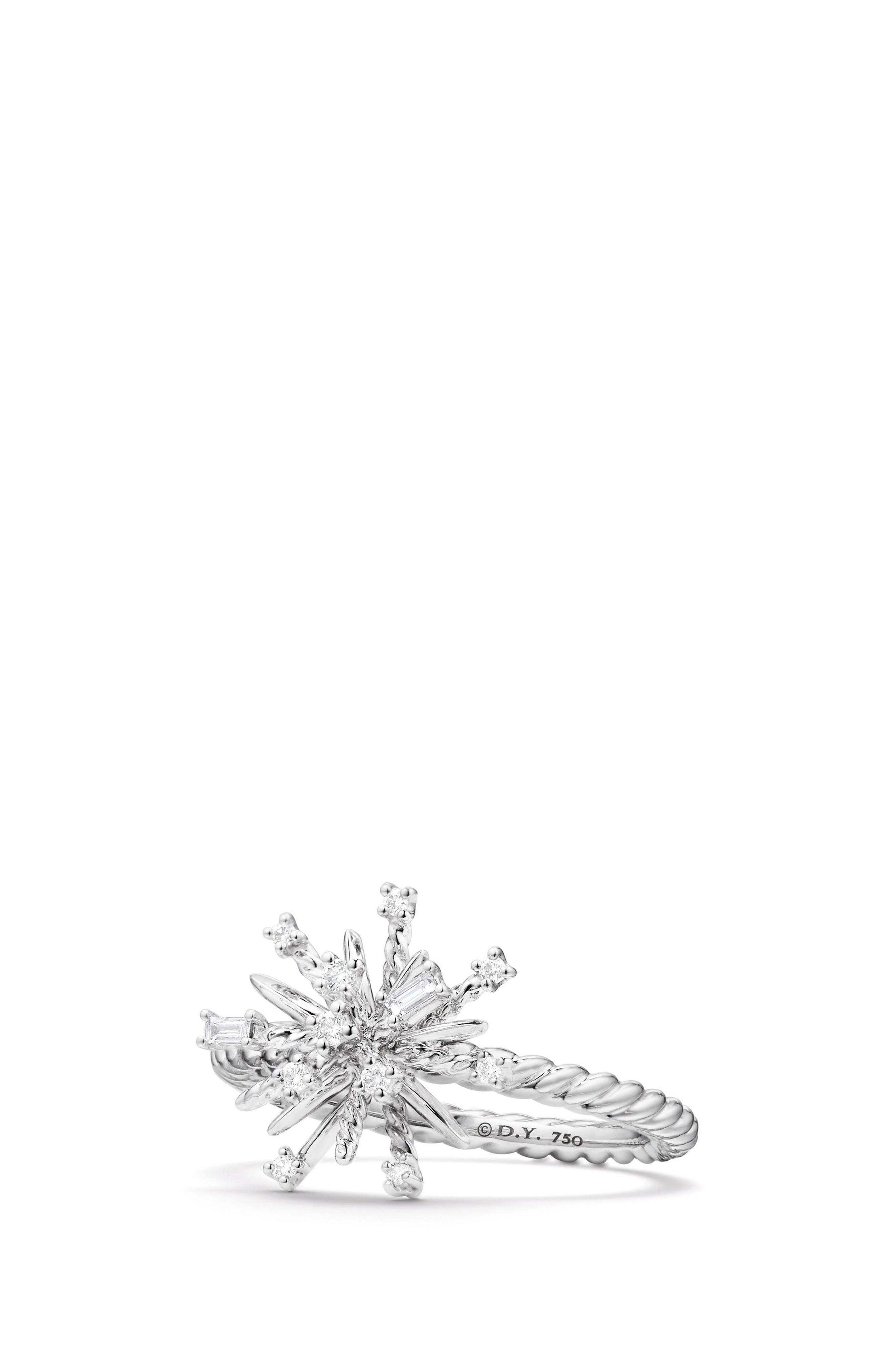 Supernova Ring with Diamonds,                             Main thumbnail 1, color,                             WHITE GOLD/ DIAMOND