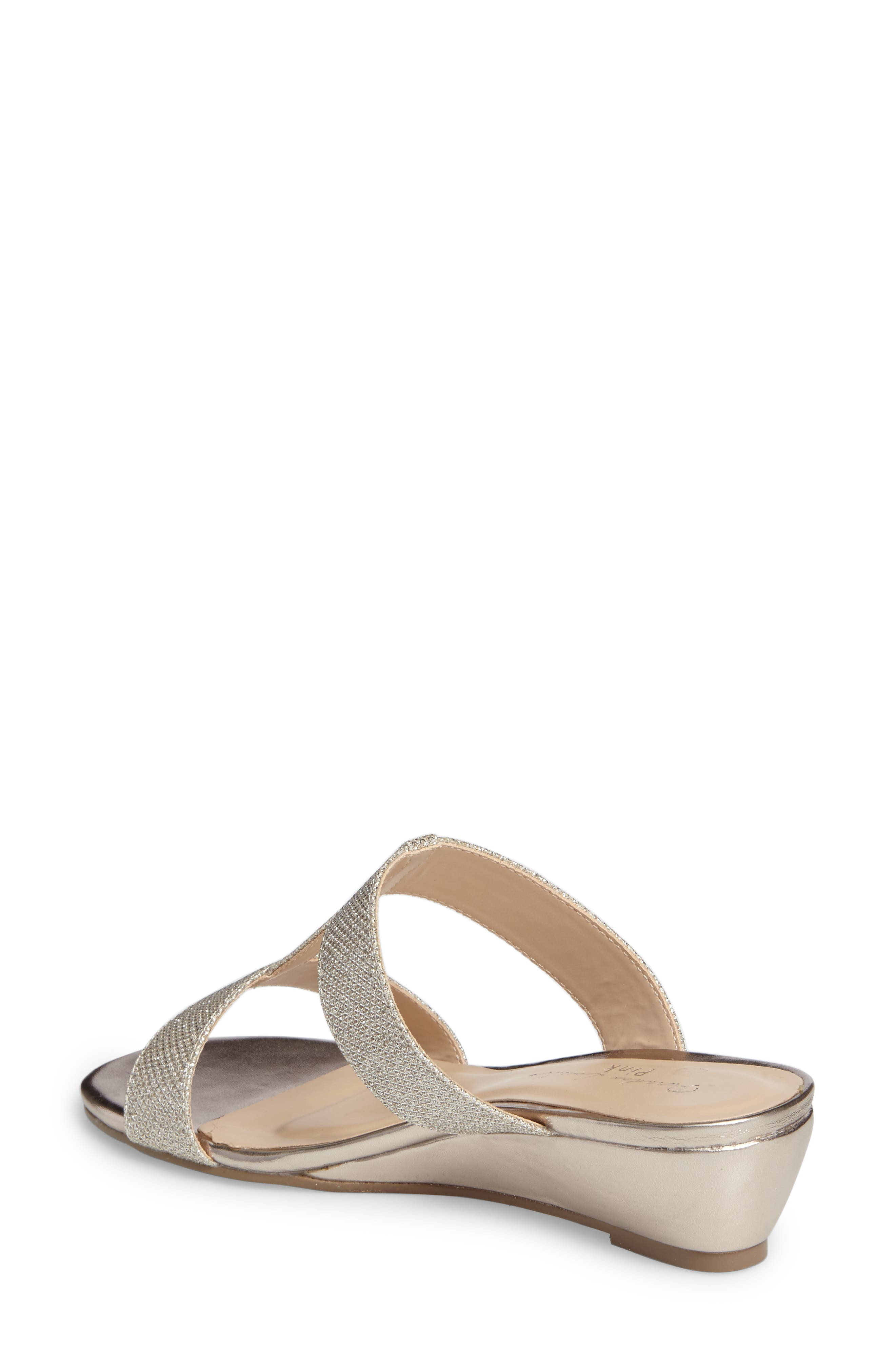 Melina Wedge Slide Sandal,                             Alternate thumbnail 4, color,