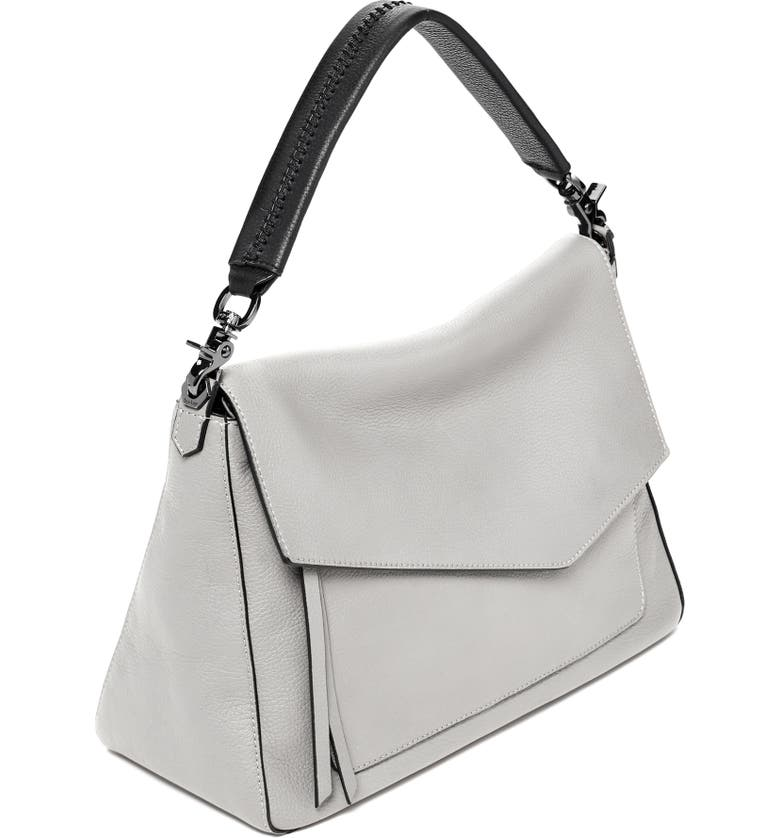 Shop Botkier Cobble Hill Slouch Calfskin Leather Hobo - Grey In ... 077b304844296