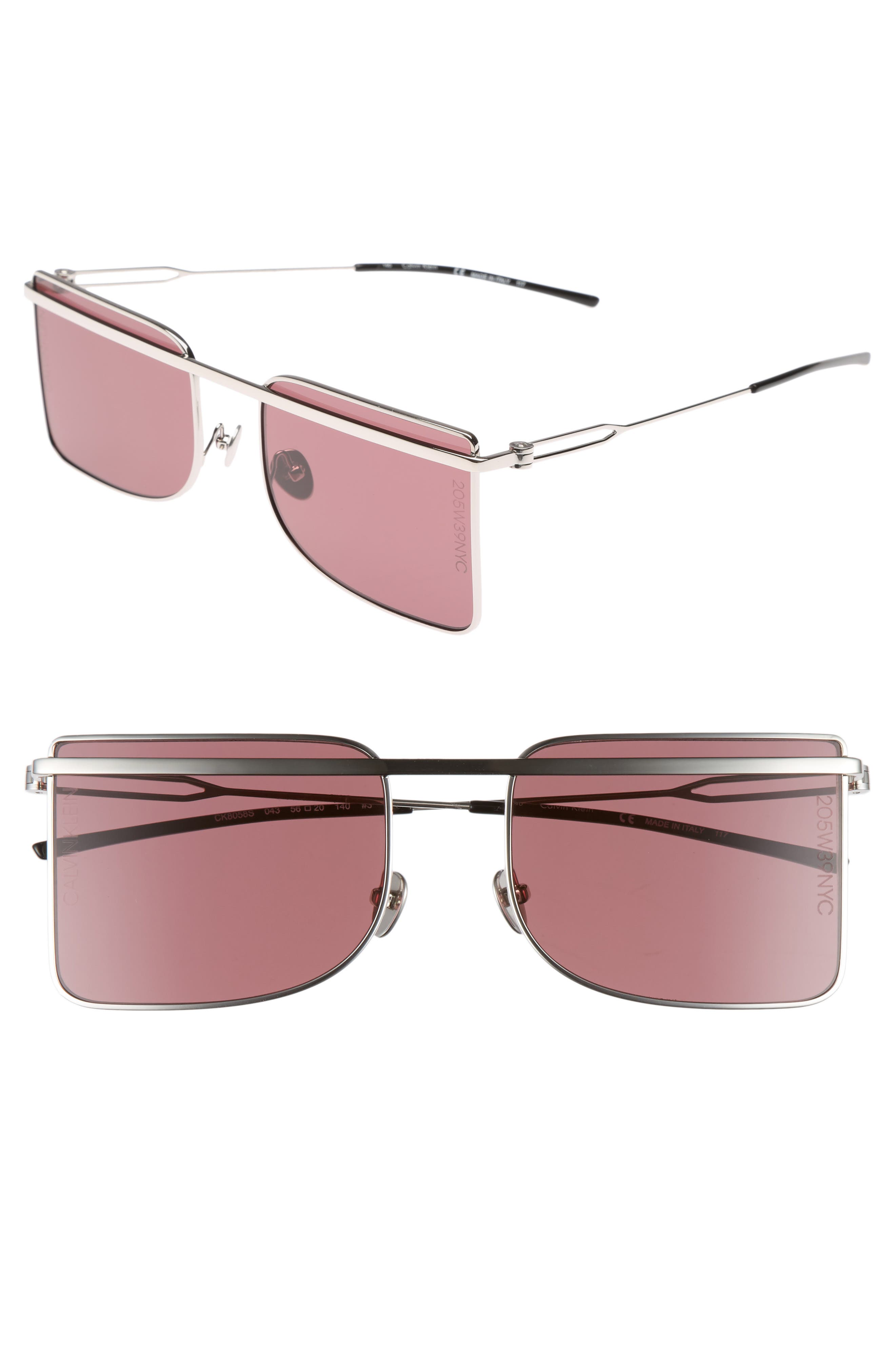 205W39NYC 56mm Butterfly Sunglasses,                         Main,                         color, 040