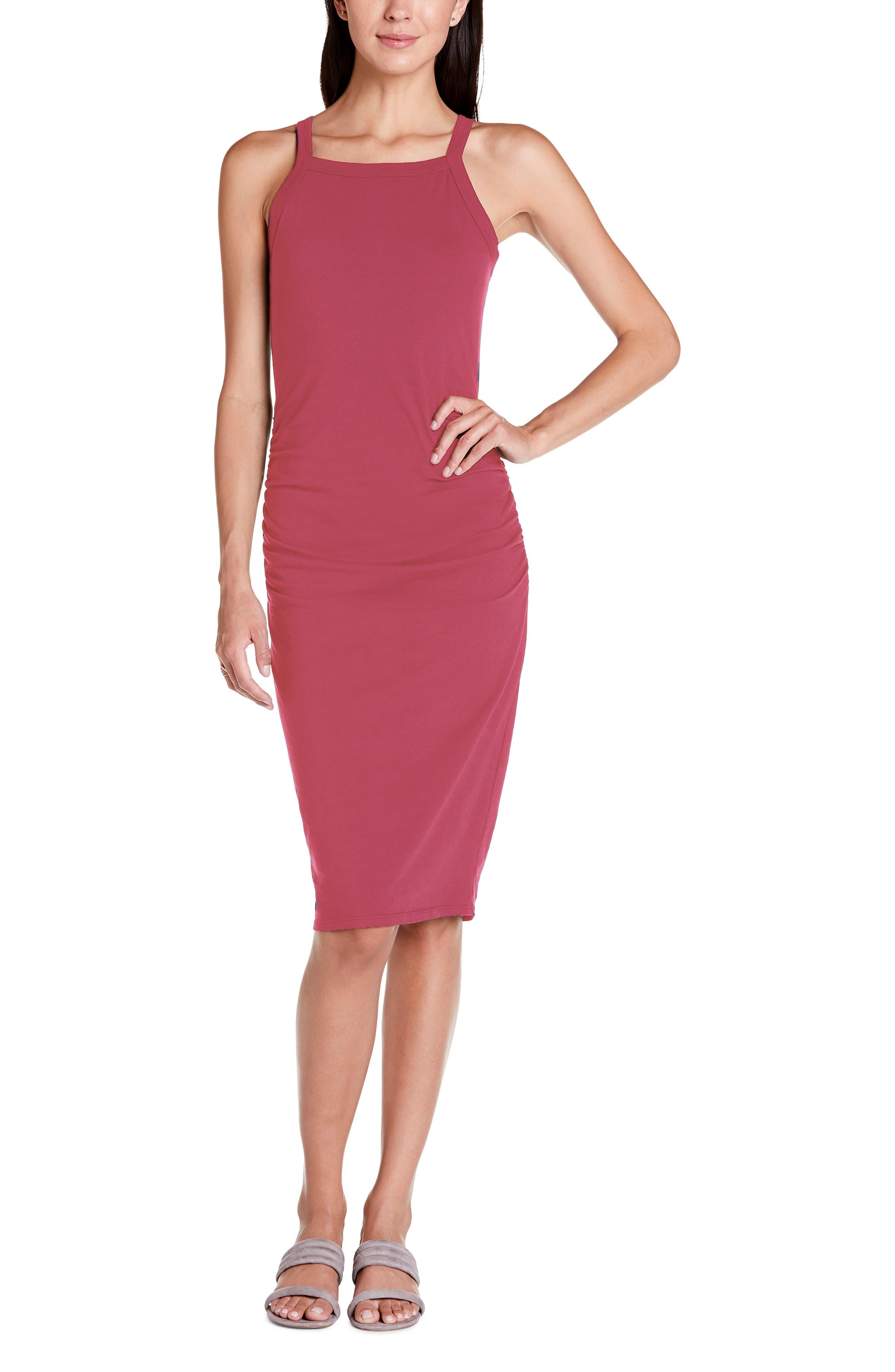 Michael Stars Rae Tank Dress, Pink