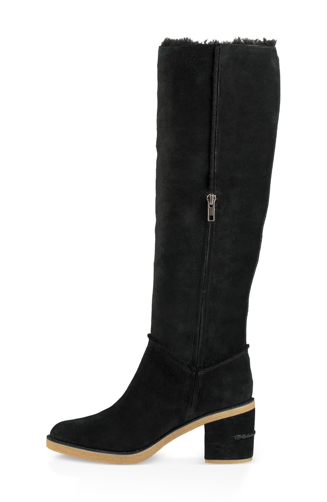 Kasen II Knee High Boot,                             Alternate thumbnail 6, color,                             BLACK SUEDE