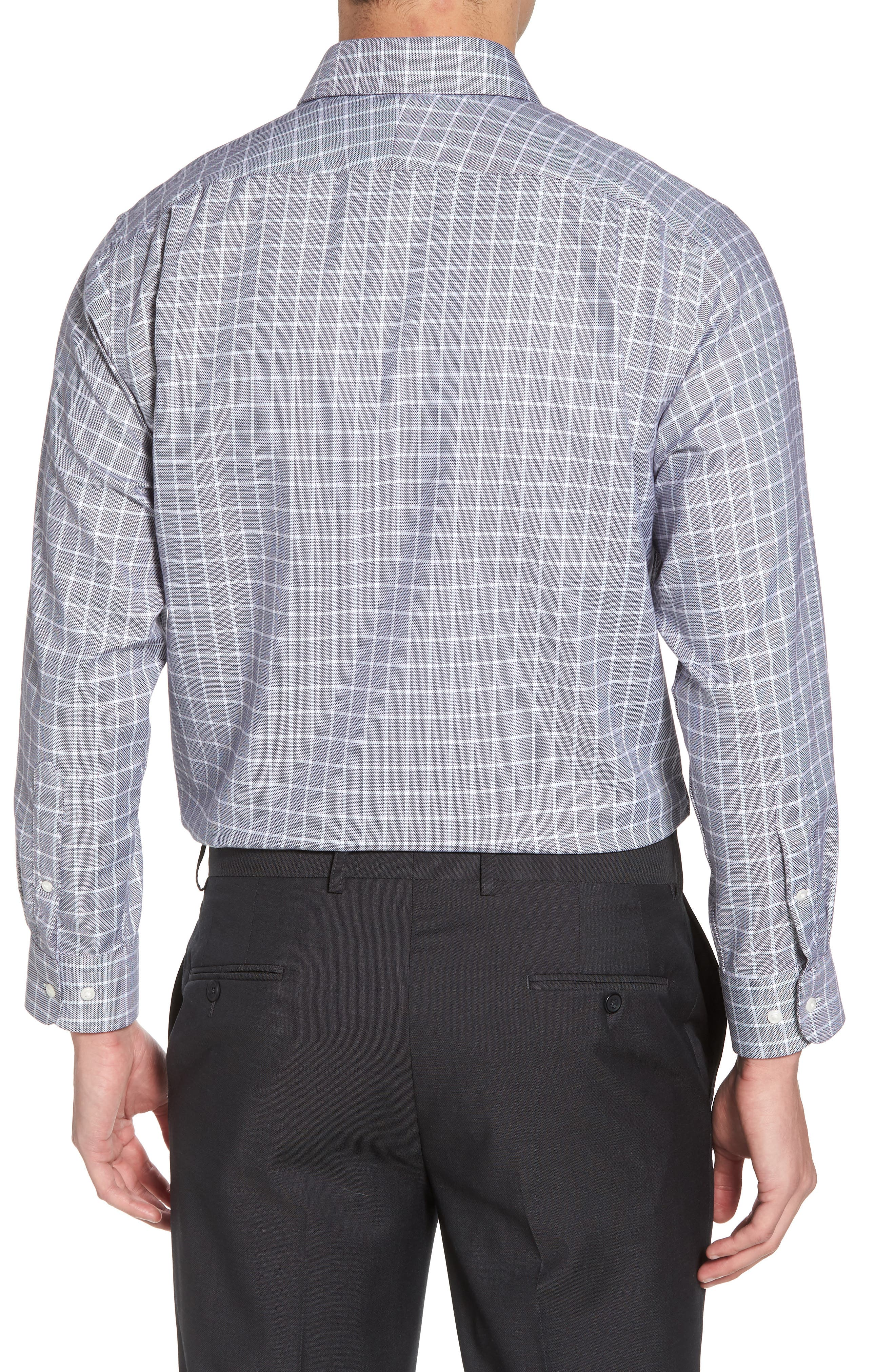 Traditional Fit Non-Iron Check Dress Shirt,                             Alternate thumbnail 3, color,                             001