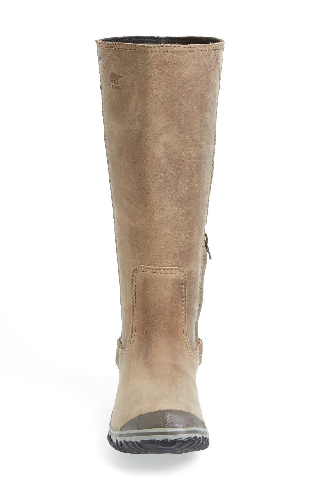 'Slim' Waterproof Tall Boot,                             Alternate thumbnail 3, color,                             008