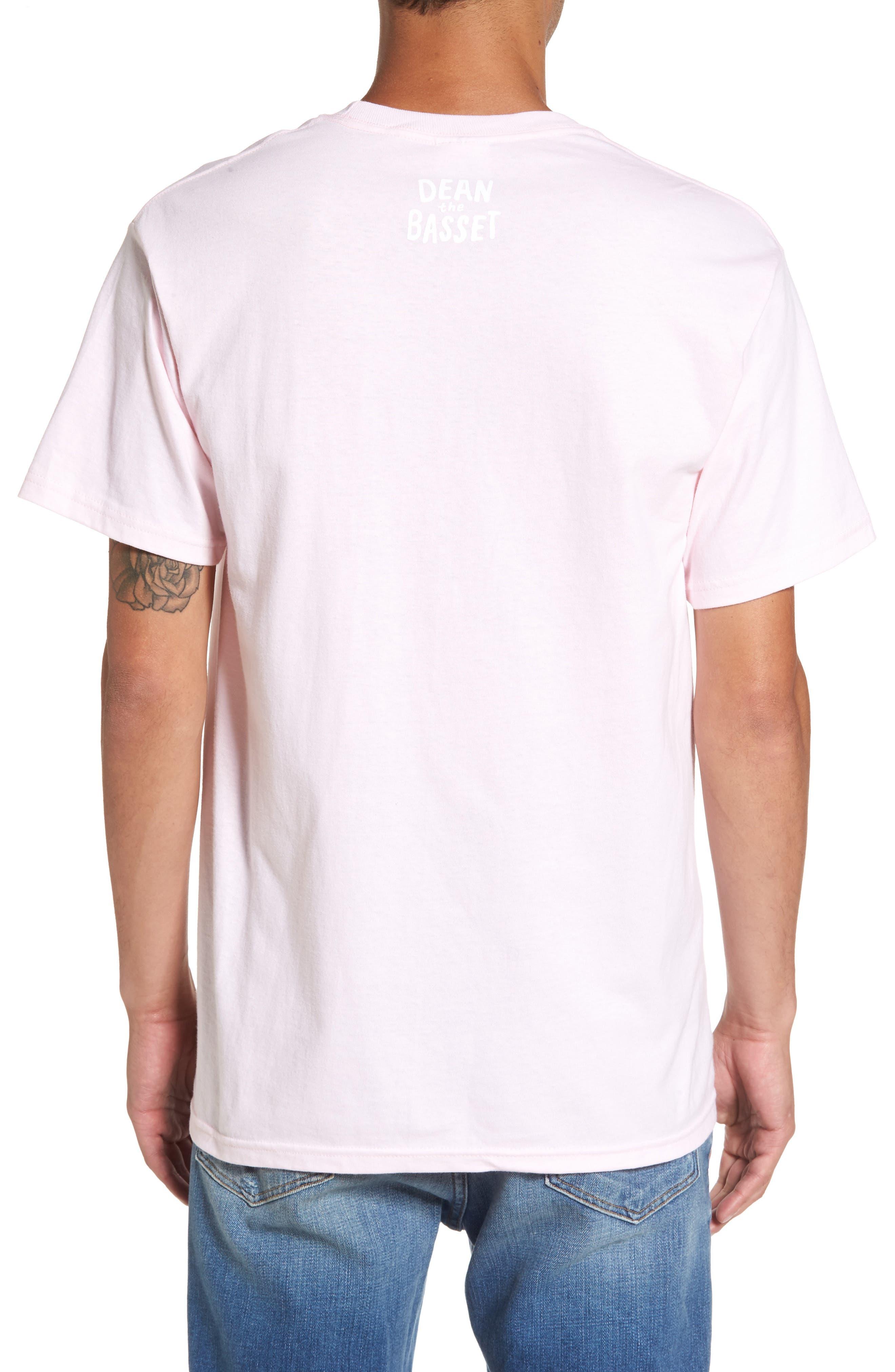 Dean the Basset Flower T-Shirt,                             Alternate thumbnail 3, color,                             650