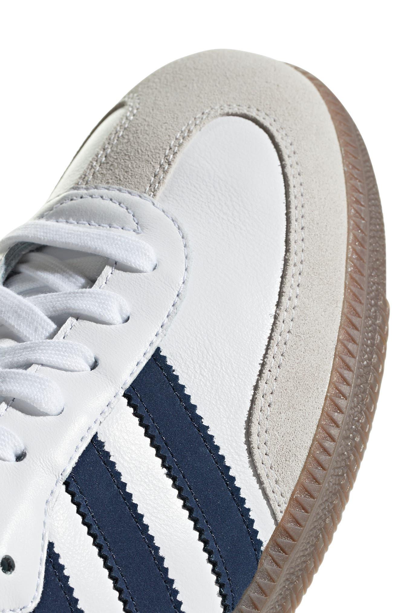 Samba OG Sneaker,                             Alternate thumbnail 6, color,                             WHITE/ NAVY / CRYSTAL WHITE