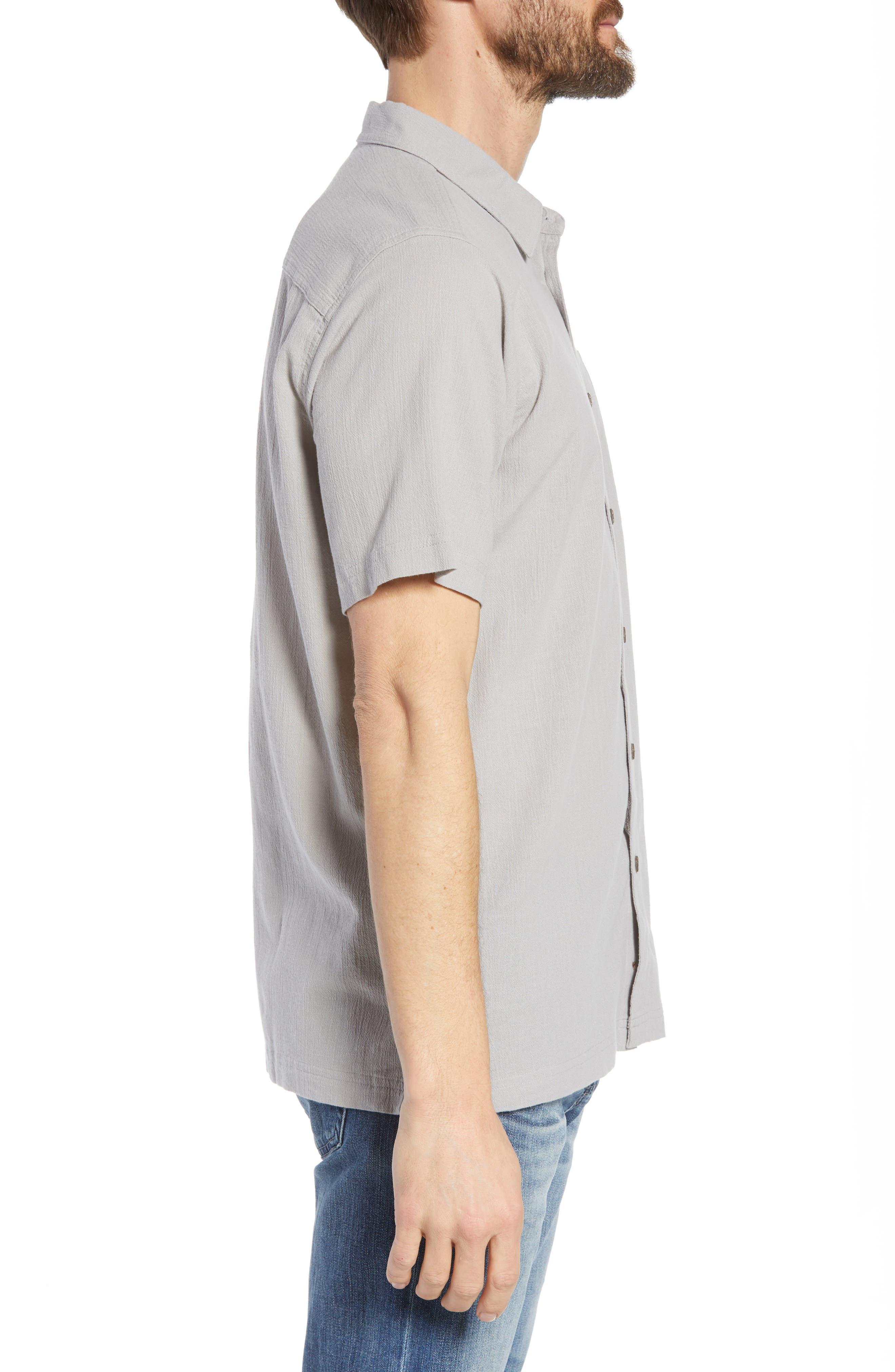 'A/C<sup>®</sup>' Regular Fit Organic Cotton Short Sleeve Sport Shirt,                             Alternate thumbnail 3, color,                             022