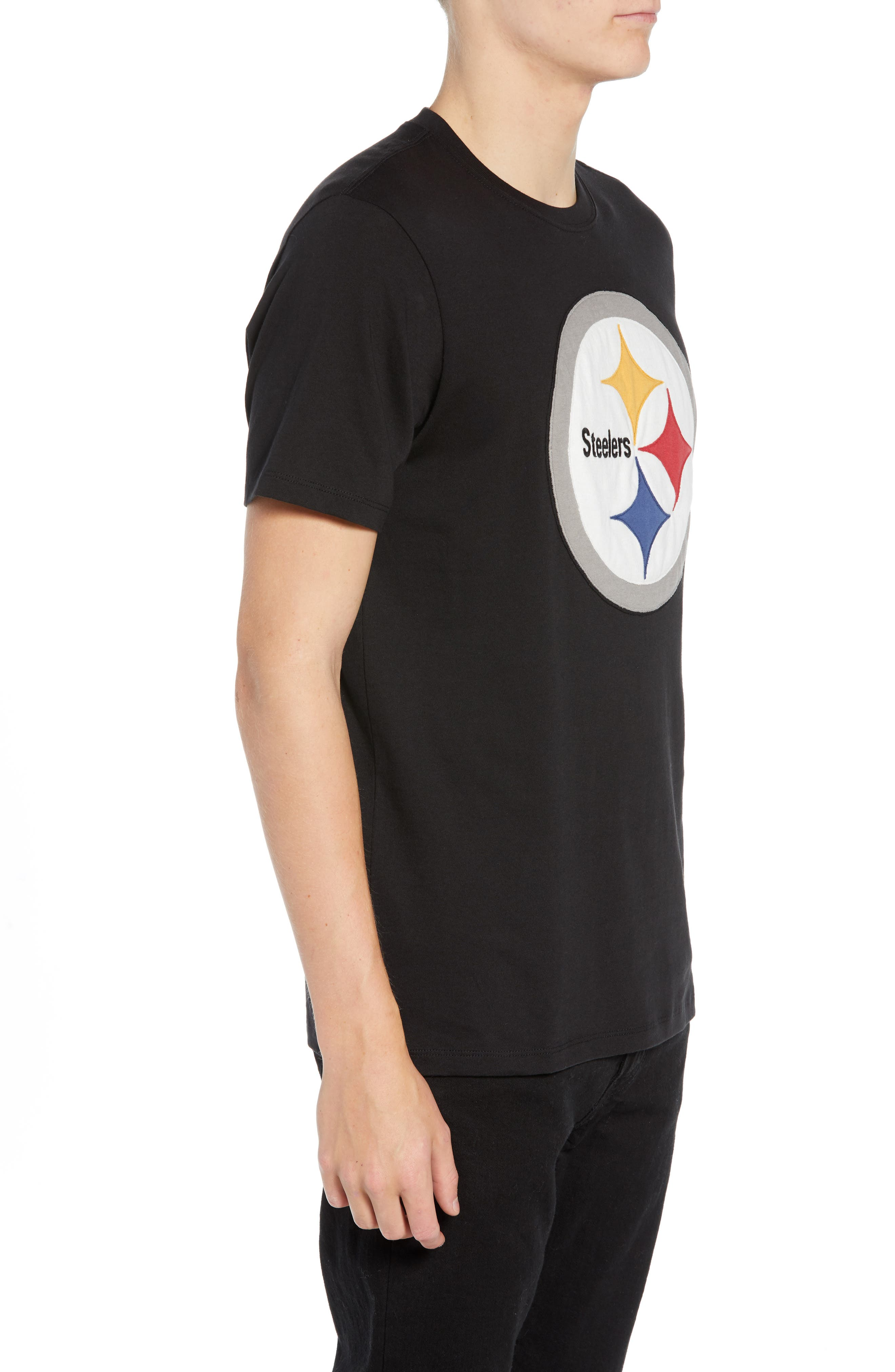 NFL Knockout Fieldhouse T-Shirt,                             Alternate thumbnail 3, color,                             PITTSBURGH STEELERS