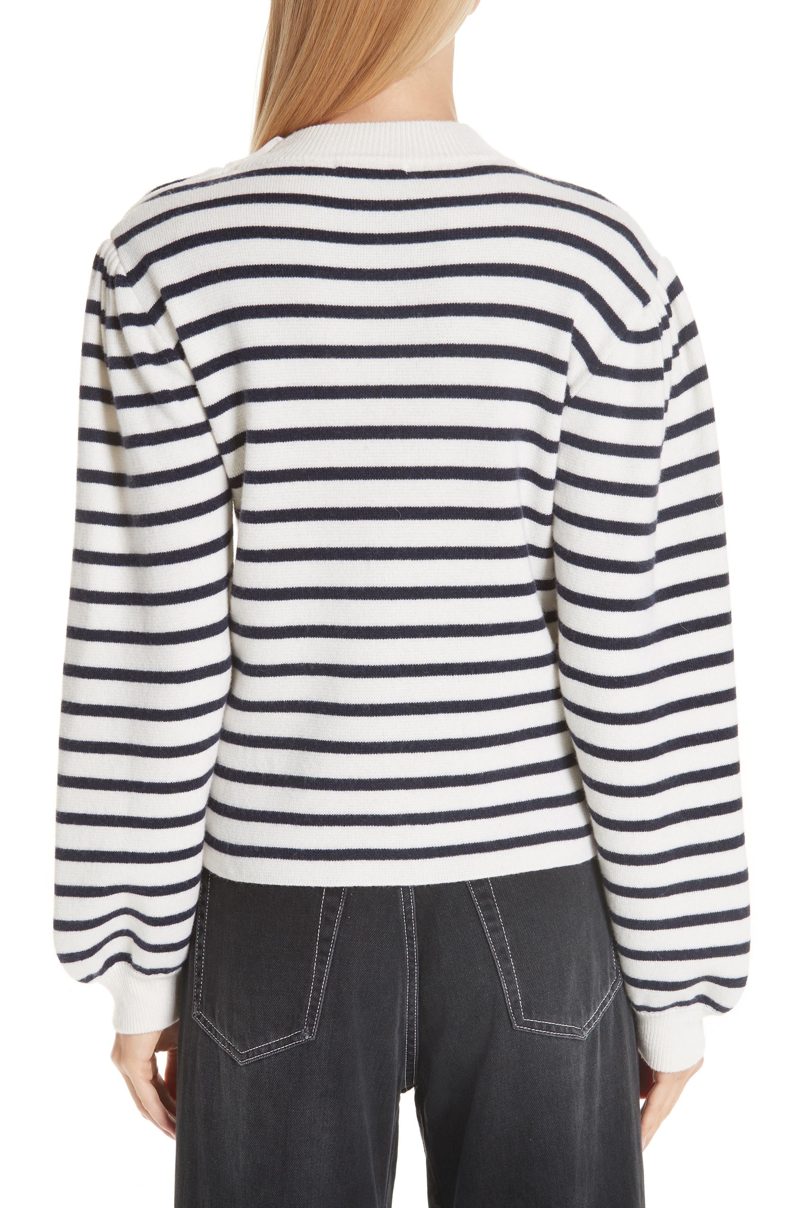 Stripe Knit Sweater,                             Alternate thumbnail 2, color,                             EGRET 135