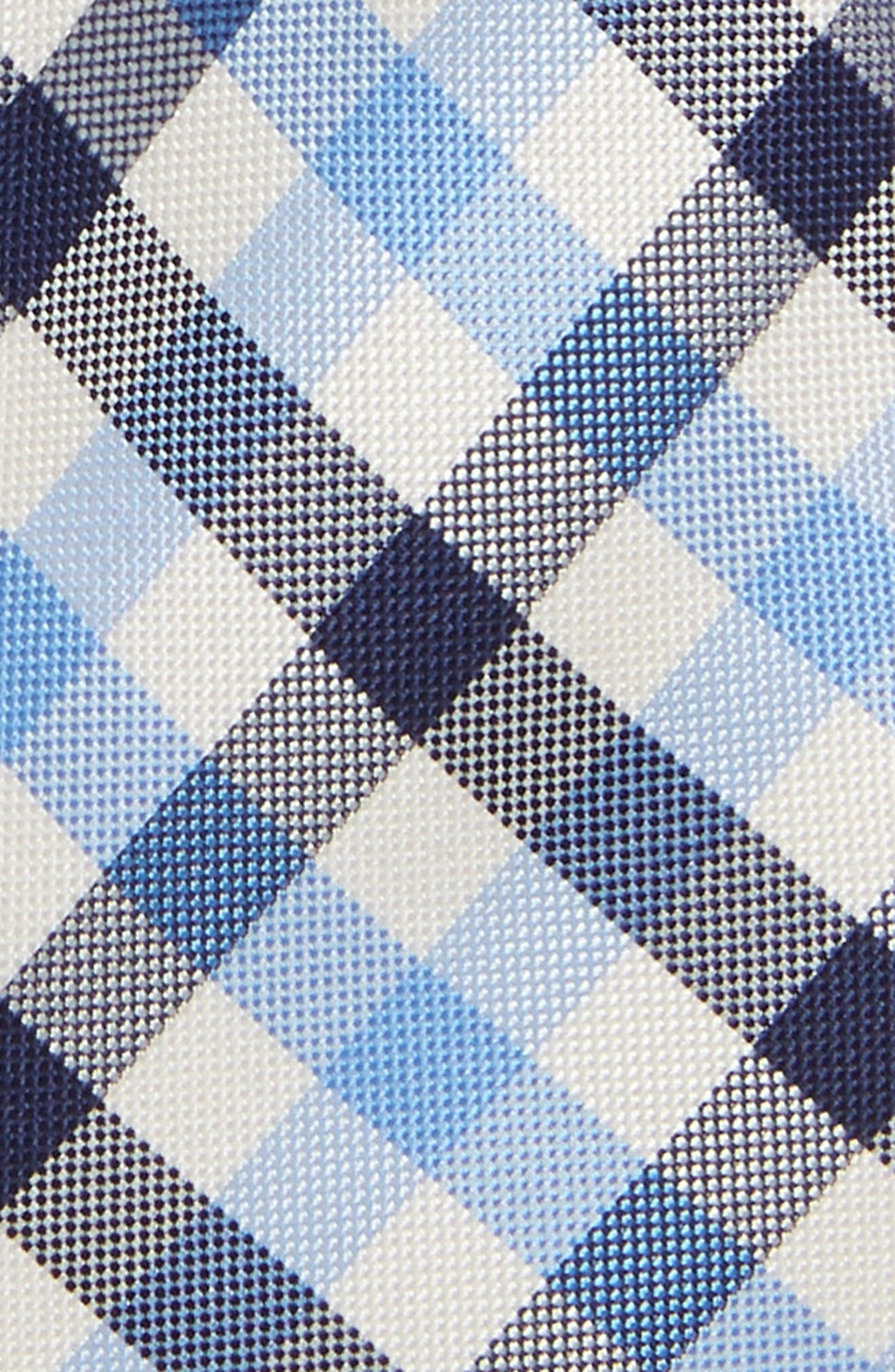 Window Plaid Silk Tie,                             Alternate thumbnail 2, color,                             LIGHT BLUE