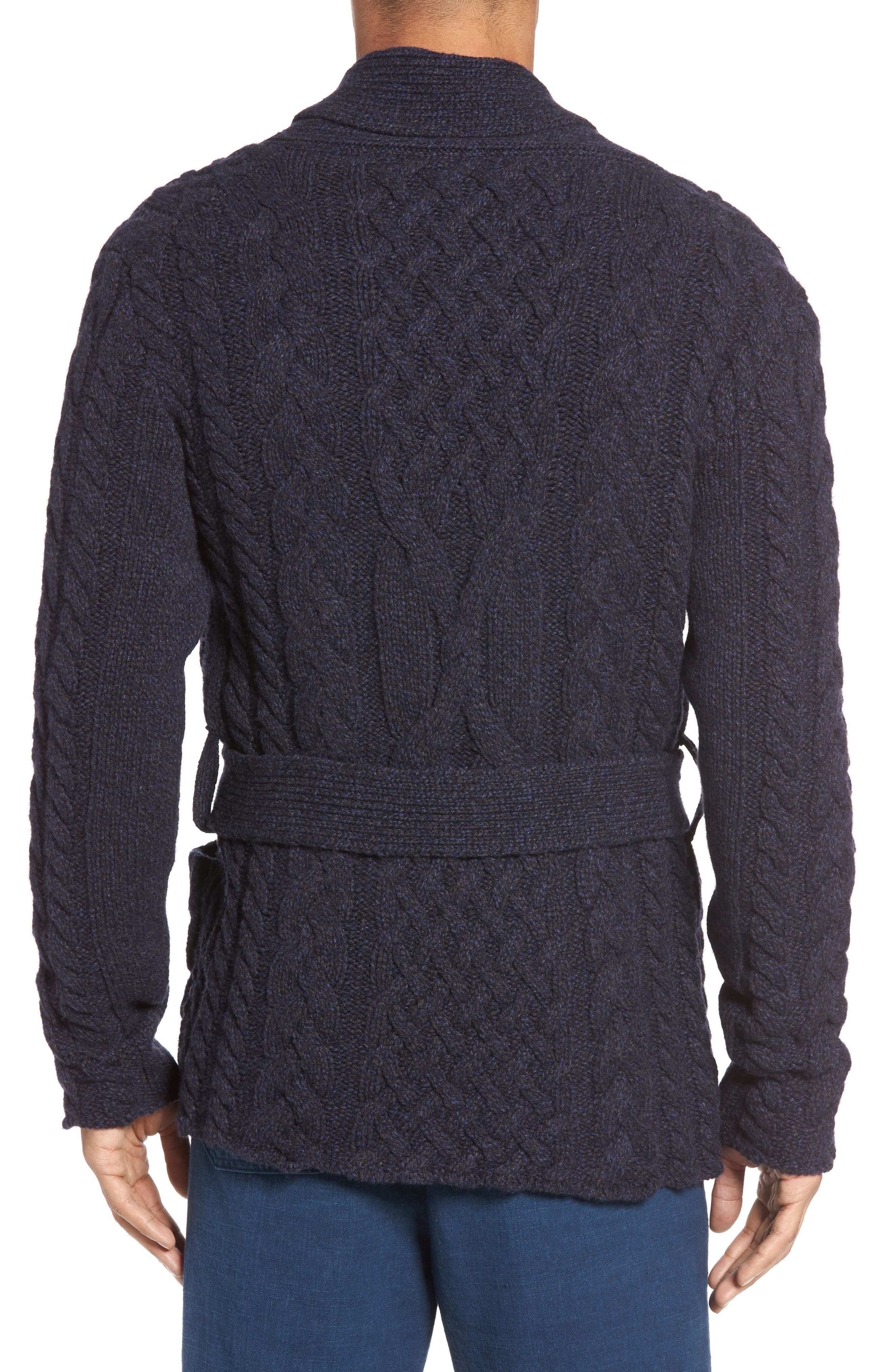 EIDOS,                             Napoli Cable Knit Wool Cardigan,                             Alternate thumbnail 2, color,                             405